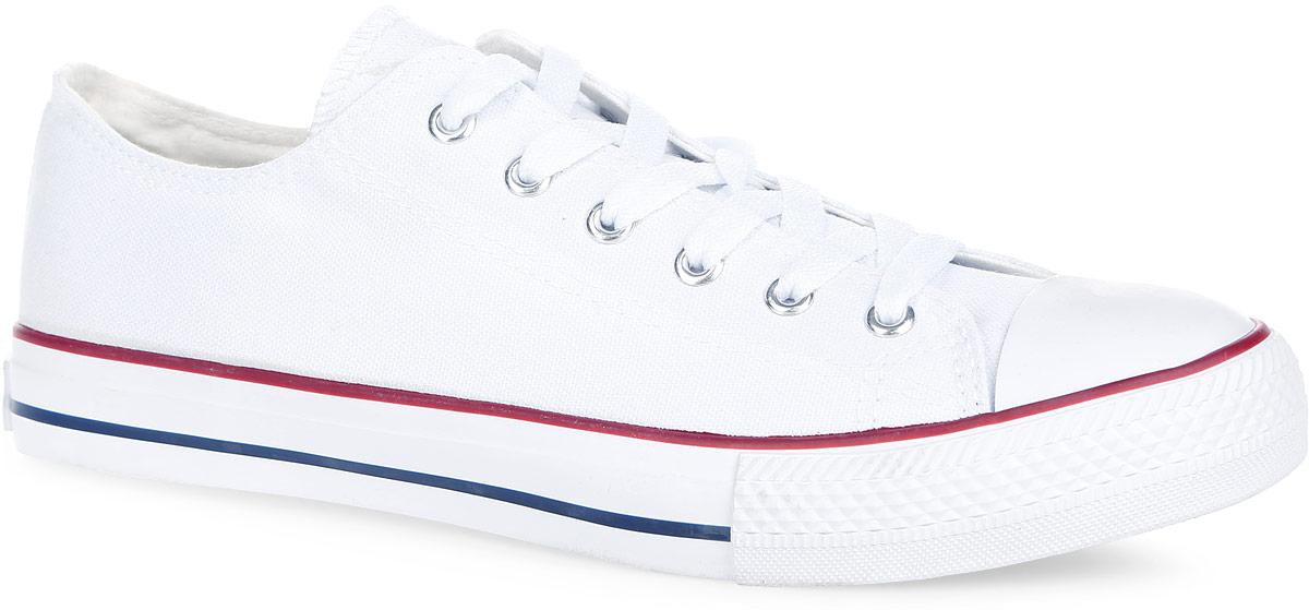 Кеды2149110Стильные мужские кеды от Beppi покорят вас с первого взгляда! Модель выполнена из плотного текстиля и оформлена на подошве контрастными полосками, сбоку - декоративными металлическими люверсами. Мыс защищен прорезиненной вставкой. Классическая шнуровка обеспечивает надежную фиксацию обуви на ноге. Подкладка из текстиля и стелька из материала ЭВА с текстильной поверхностью гарантируют комфорт при движении. Прочная резиновая подошва с рельефным рисунком обеспечивает сцепление с любой поверхностью. Такие кеды займут достойное место в вашем гардеробе.
