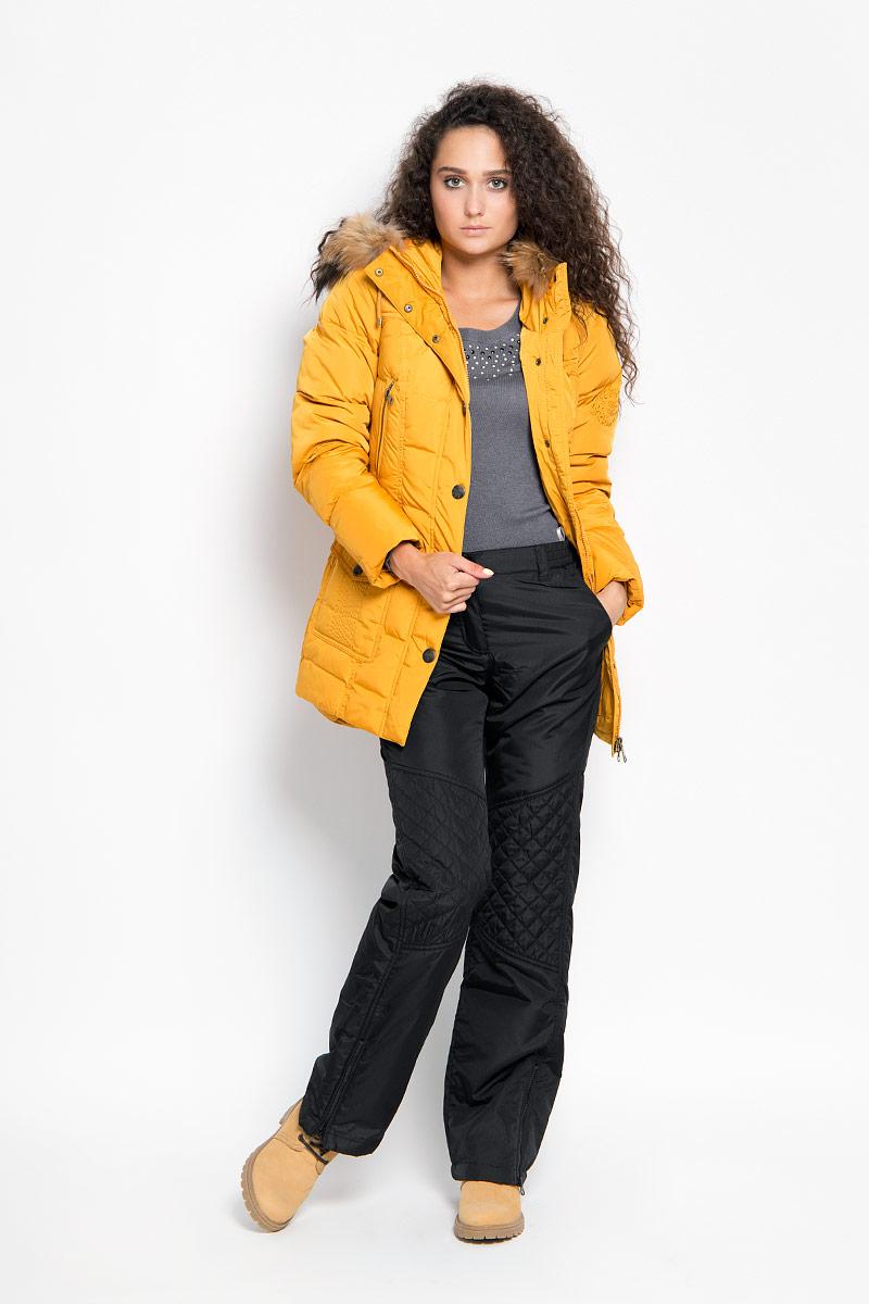 Брюки утепленные женские. A16-12005A16-12005_200Удобные и стильные утепленные женские брюки Finn Flare - это изделие высочайшего качества, которое превосходно сидит и подчеркнет все достоинства вашей фигуры. Прямые брюки стандартной посадки выполнены из полиэстера с утеплителем из синтепона, что обеспечивает комфорт и удобство при носке. Брюки застегиваются на пуговицу в поясе и ширинку на застежке-молнии, а также дополнены широкой эластичной резинкой в поясе, обеспечивающей комфортную посадку по фигуре. Брюки дополнены двумя втачными карманами спереди и двумя накладными карманами сзади, имеют шлевки для ремня. По низу брючин расположены застежки-молнии. Эти модные и теплые брюки послужат отличным дополнением к вашему гардеробу и помогут создать неповторимый современный образ. Такие брюки подойдут как для прогулок, так и для активного отдыха в прохладные дни.