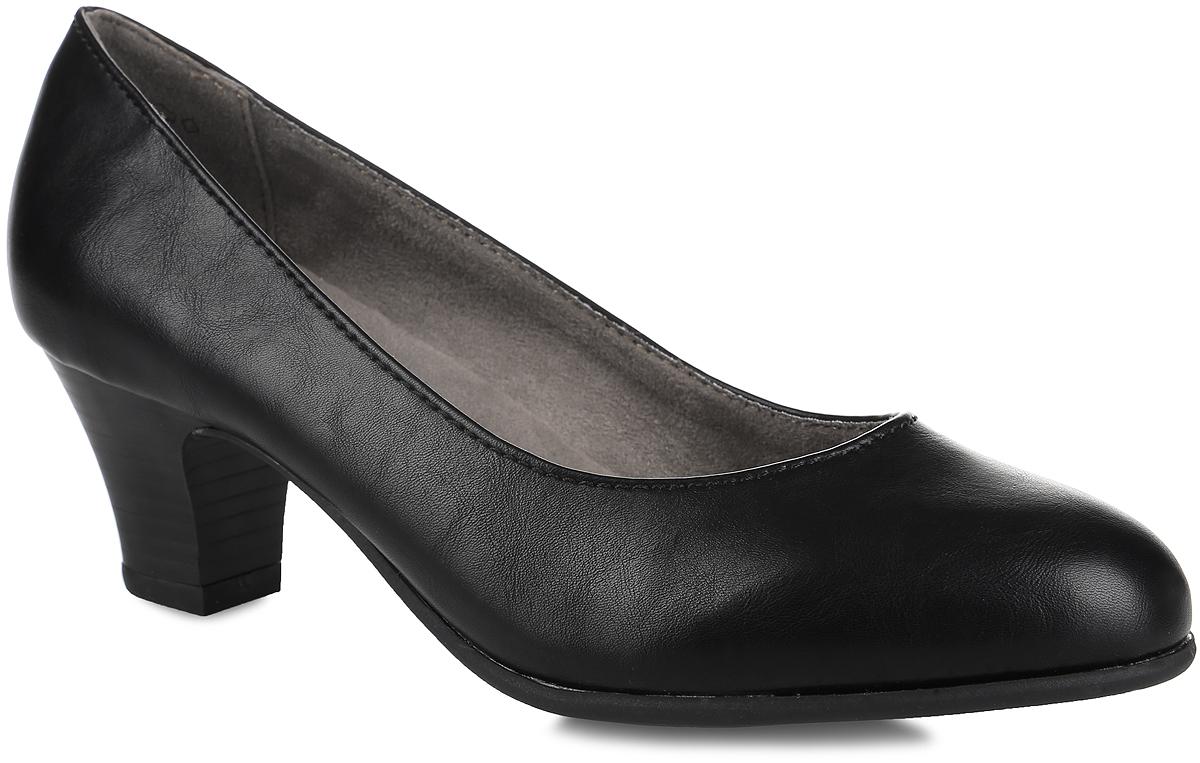 Туфли женские. 8-8-22463-27-0018-8-22463-27-001Стильные туфли от Jana не оставят равнодушной настоящую модницу! Модель выполнена из искусственной кожи. Закругленный носок добавляет женственности. Подкладка из текстиля не натирает. Мягкая стелька из материала ЭВА с текстильной поверхностью обеспечивает максимальный комфорт. Каблук умеренной высоты невероятно устойчив. Каблук и подошва с рифлением обеспечивают идеальное сцепление с любыми поверхностями. Элегантные туфли внесут изысканные нотки в ваш образ и подчеркнут вашу утонченную натуру.