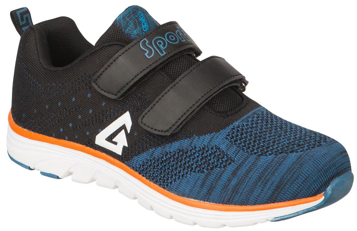 74204-1Стильные и удобные кроссовки от Kapika выполнены из текстиля в стиле вязка. Два ремешка на застежках-липучках надежно фиксируют изделие на ноге. Стелька из натуральной кожи дополнена супинатором. Наличие ЭВА в составе подошвы делает кроссовки легкими. Модель большемерит на половину размера.