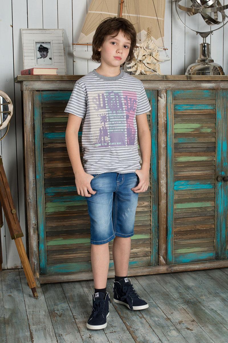 Шорты196718Удобные шорты для мальчика Luminoso идеально подойдут вашему маленькому моднику. Изготовленные из эластичного хлопка, они мягкие и приятные на ощупь, не сковывают движения, сохраняют тепло и позволяют коже дышать, обеспечивая наибольший комфорт. Шорты застегиваются на металлическую пуговицу в поясе, также имеются шлевки для ремня и ширинка на металлической застежке-молнии. Объем пояса регулируется при помощи эластичной резинки с пуговицей изнутри. Шорты имеют классический пятикарманный крой: спереди модель дополнена двумя втачными карманами и одним маленьким накладным кармашком, а сзади - двумя накладными карманами. Модель оформлена декоративными потертостями. Практичные и стильные шорты идеально подойдут вашему малышу, а модная расцветка и высококачественный материал позволят ему комфортно чувствовать себя в течение дня!