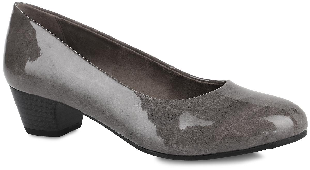 8-8-22360-27-367Стильные туфли Soft Line от Jana не оставят равнодушной настоящую модницу! Модель выполнена из искусственной лакированной кожи. Закругленный носок добавляет женственности. Подкладка из текстиля не натирает. Мягкая стелька из материала ЭВА с текстильной поверхностью обеспечивает максимальный комфорт. Небольшой каблук невероятно устойчив. Каблук и подошва с рифлением обеспечивают идеальное сцепление с любыми поверхностями. Элегантные туфли внесут изысканные нотки в ваш образ и подчеркнут вашу утонченную натуру.