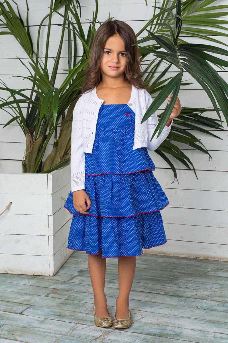 Кофта для девочки. 195447/195448195447Вязаная кофта для девочки Sweet Berry идеально подойдет вашей маленькой моднице. Выполненная из натуральной хлопковой пряжи, она мягкая и приятная на ощупь, не сковывает движения и позволяет коже дышать, обеспечивая наибольший комфорт. Укороченная модель с круглым вырезом горловины и длинными рукавами-фонариками застегивается на пуговицы по всей длине. Горловина, планка, низ изделия и манжеты рукавов связаны эластичной резинкой. Кофта украшена ажурным узором, дополнена небольшой металлической подвеской с фирменным логотипом. Современный дизайн и расцветка делают эту кофту стильным предметом детского гардероба. В ней ваша принцесса будет чувствовать себя уютно и комфортно, и всегда будет в центре внимания!