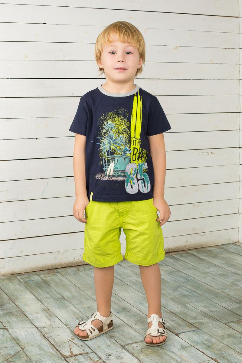 Шорты196342Удобные шорты для мальчика Sweet Berry идеально подойдут вашему маленькому моднику. Изготовленные из натурального хлопка, они не сковывают движения, сохраняют тепло и позволяют коже дышать, обеспечивая наибольший комфорт. Шорты застегиваются на металлический крючок в поясе, также имеются шлевки для ремня и ширинка на застежке-молнии. Объем пояса регулируется при помощи эластичной резинки с пуговицей изнутри. Спереди модель дополнена двумя втачными карманами и имитацией накладного кармашка, а сзади - двумя накладными карманами. Шорты дополнены декоративными отворотами. Практичные и стильные шорты идеально подойдут вашему малышу, а модная расцветка и высококачественный материал позволят ему комфортно чувствовать себя в течение дня и всегда оставаться в центре внимания!