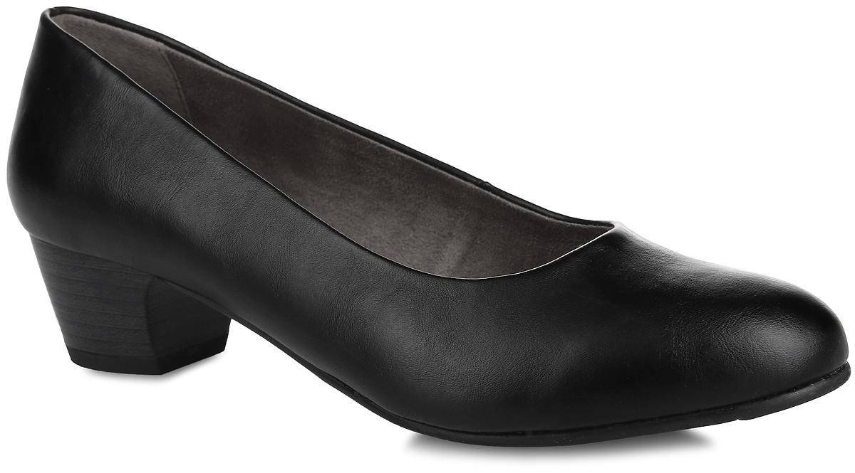 Туфли женские Soft Line. 8-8-22360-27-0018-8-22360-27-001Стильные туфли Soft Line от Jana не оставят равнодушной настоящую модницу! Модель выполнена из искусственной кожи. Закругленный носок добавляет женственности. Подкладка из текстиля не натирает. Мягкая стелька из материала ЭВА с текстильной поверхностью обеспечивает максимальный комфорт. Небольшой каблук невероятно устойчив. Каблук и подошва с рифлением обеспечивают идеальное сцепление с любыми поверхностями. Элегантные туфли внесут изысканные нотки в ваш образ и подчеркнут вашу утонченную натуру.