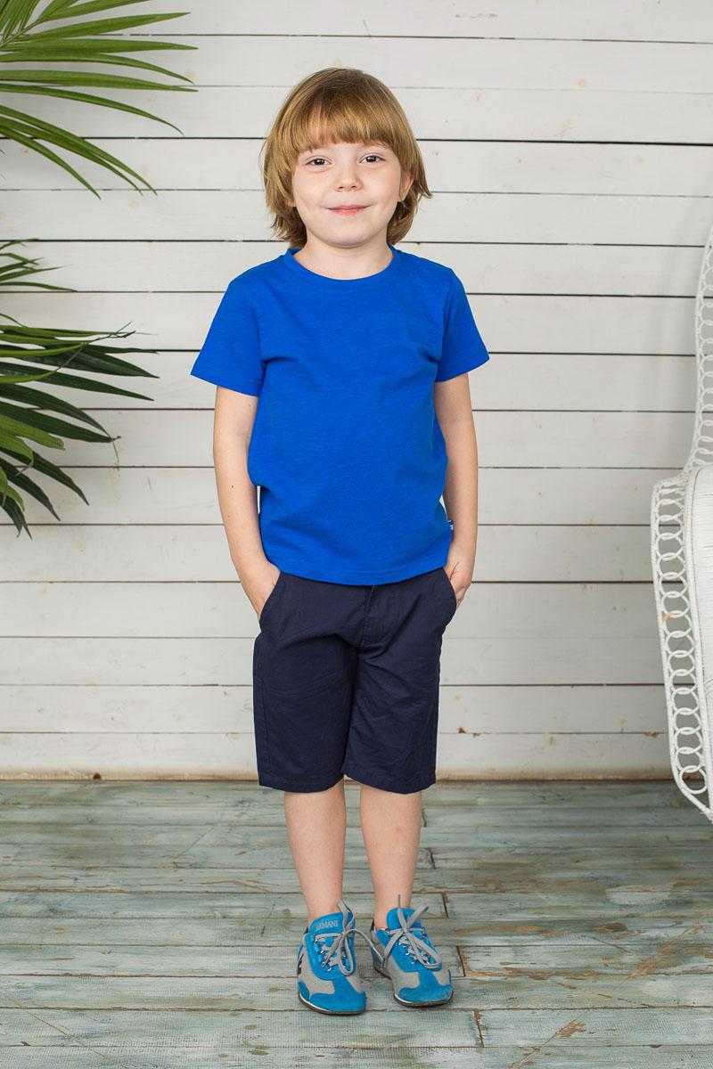 Футболка для мальчика. 196622196622Футболка для мальчика Sweet Berry станет отличным дополнением к гардеробу маленького модника. Модель выполнена из эластичного хлопка, очень мягкая и приятная на ощупь, не сковывает движения и позволяет коже дышать, обеспечивая комфорт. Однотонная футболка с короткими рукавами имеет круглый вырез горловины, оформленный трикотажной резинкой. Отличное качество и расцветка делают эту футболку стильным и практичным предметом детской одежды, в ней ребенок будет чувствовать себя уютно и комфортно!