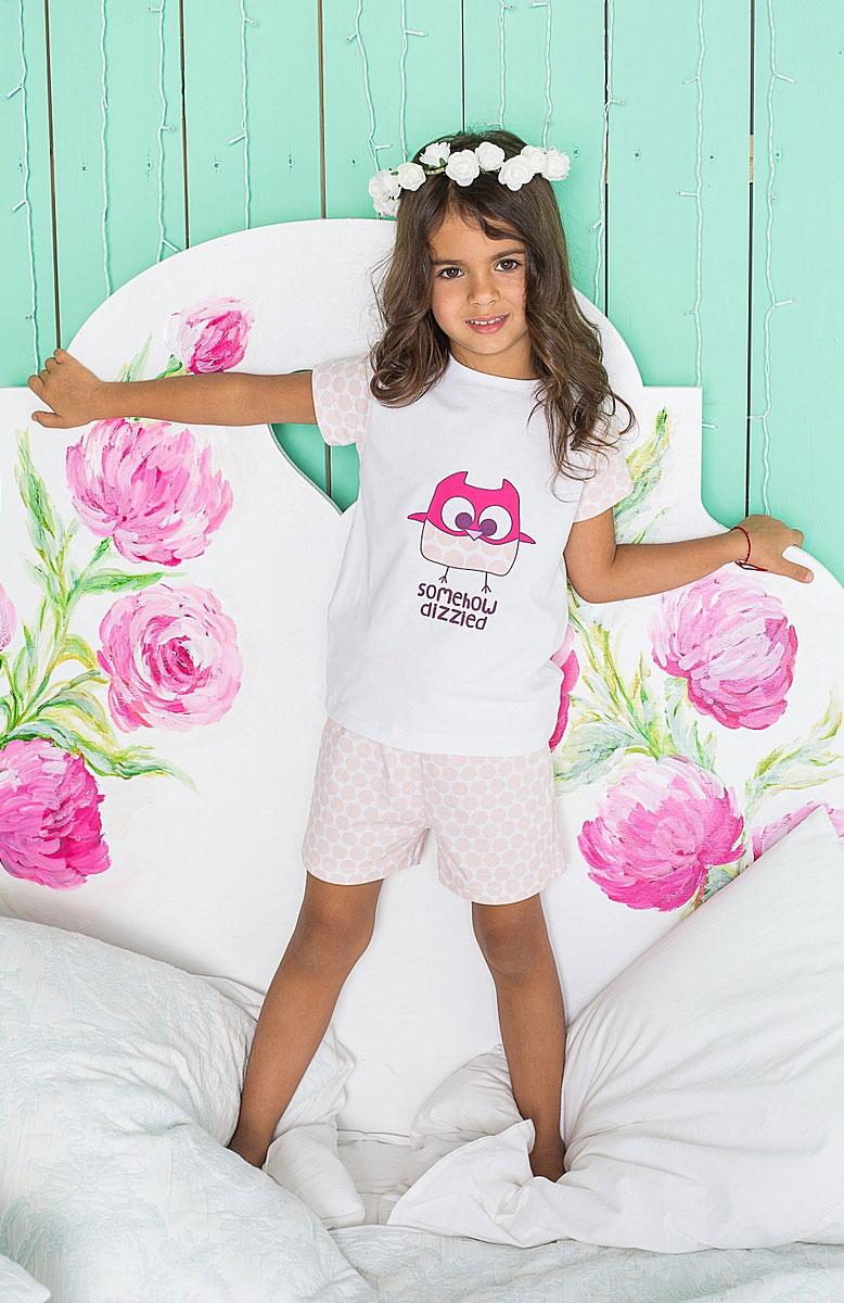 Комплект одежды195947Пижама для девочки с футболкой и шортами.