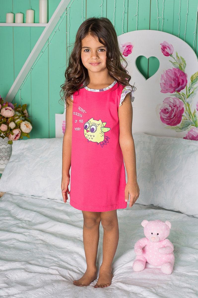 Платье195949Ночная рубашка для девочки с ярким принтом