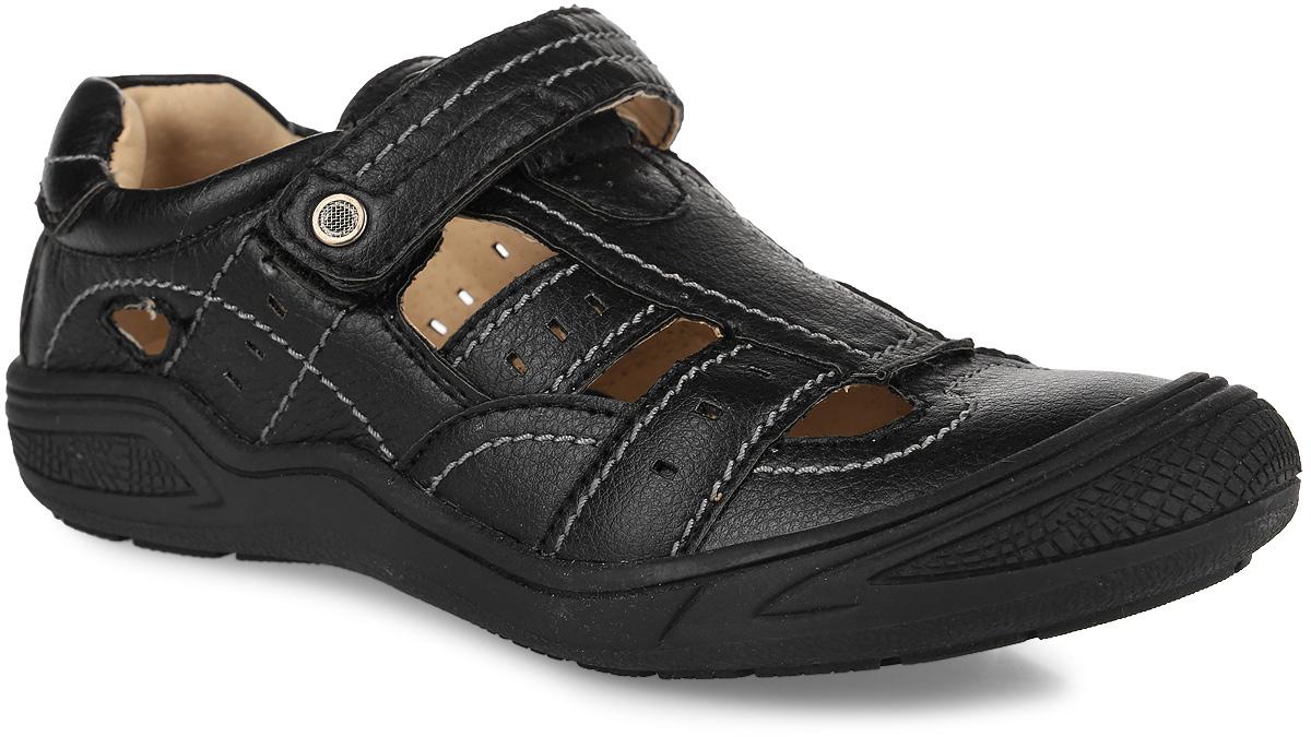 Туфли для мальчика. 13-32813-328Стильные туфли от Аллигаша покорят вашего мальчика с первого взгляда! Модель выполнена из мягкой искусственной кожи и оформлена перфорацией, контрастной прострочкой. Ремешок с застежкой-липучкой на подъеме гарантирует надежную фиксацию обуви. Стелька из натуральной кожи дополнена супинатором с перфорацией, который обеспечивает правильное положение ноги ребенка при ходьбе, предотвращает плоскостопие. Рифленая поверхность подошвы защищает изделие от скольжения. Прорезиненный мыс для более надежной защиты. Модные туфли подойдут как для активного отдыха, так и для ежедневной носки.