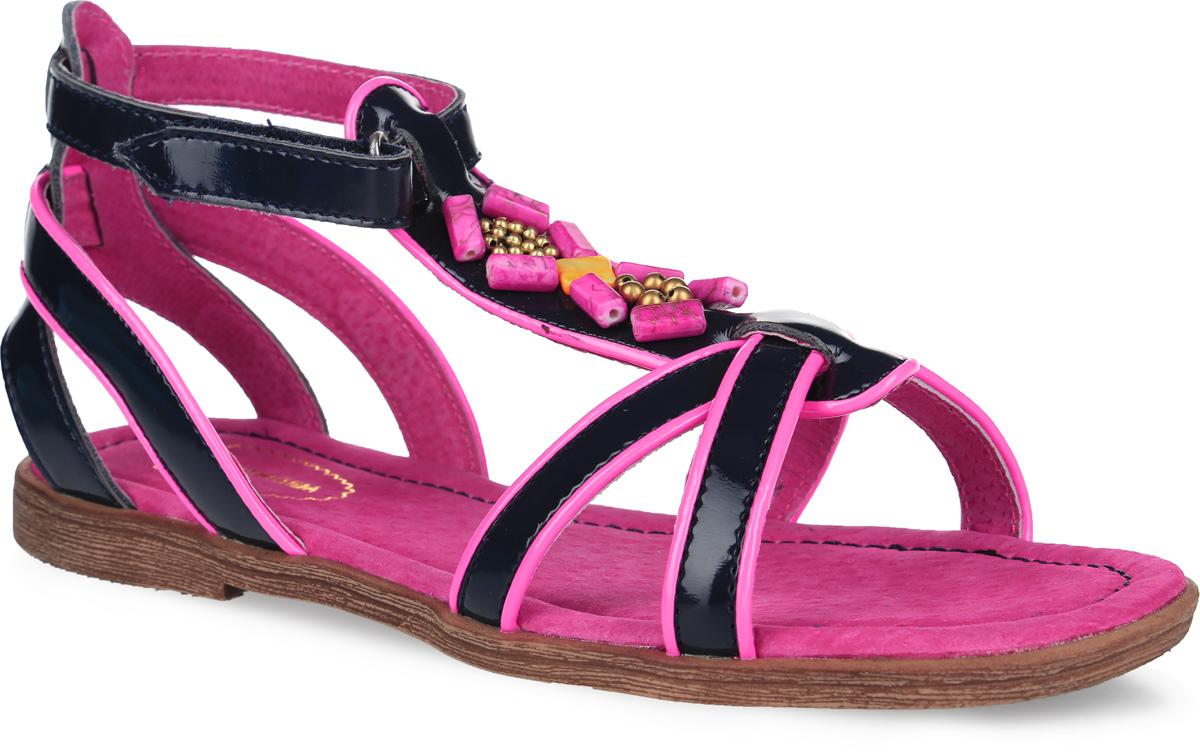 174Прелестные сандалии от Аллигаша придутся по душе вашей девочке и идеально подойдут для повседневной носки в летнюю погоду! Модель, выполненная из искусственной лакированной кожи, оформлена на подъеме декоративными элементами. Ремешок с застежкой-липучкой обеспечивает надежную фиксацию модели на ноге. Внутренняя поверхность и стелька из натуральной кожи комфортны при ходьбе. Подошва с рифлением гарантирует отличное сцепление с любой поверхностью. Стильные сандалии - незаменимая вещь в гардеробе каждой девочки!