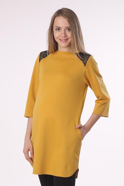 16511Яркое платье-туника - замечательный вариант для модниц: отлично смотрится и с леггинсами, и отдельно - как маленькое платье.