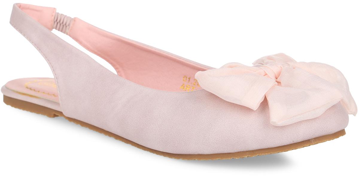 100Прелестные балетки с открытой пяткой от Аллигаша придутся по душе вашей моднице! Модель изготовлена из искусственной кожи и оформлена на мысе текстильным бантиком. Внутренняя поверхность и стелька из искусственной кожи комфортны при движении. Пяточный ремешок с резинкой для надежной фиксации модели на ноге. Подошва с рифлением обеспечивает идеальное сцепление с любыми поверхностями. Стильные балетки - незаменимая вещь в гардеробе каждой девочки.