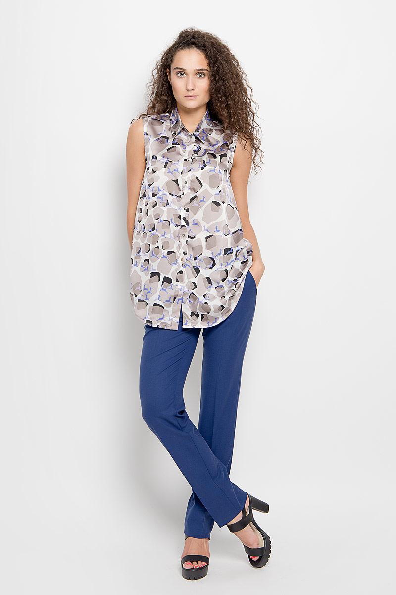 Блузка1202643_48Стильная блузка Ruxara, выполненная из микрофибры, поможет создать отличный современный образ в стиле Casual. Модель с отложным воротником и без рукавов спереди застегивается на пуговицы. Изделие оформлено оригинальным принтом. Такая блузка поможет создать яркий и привлекательный образ, в ней вам будет удобно и комфортно.