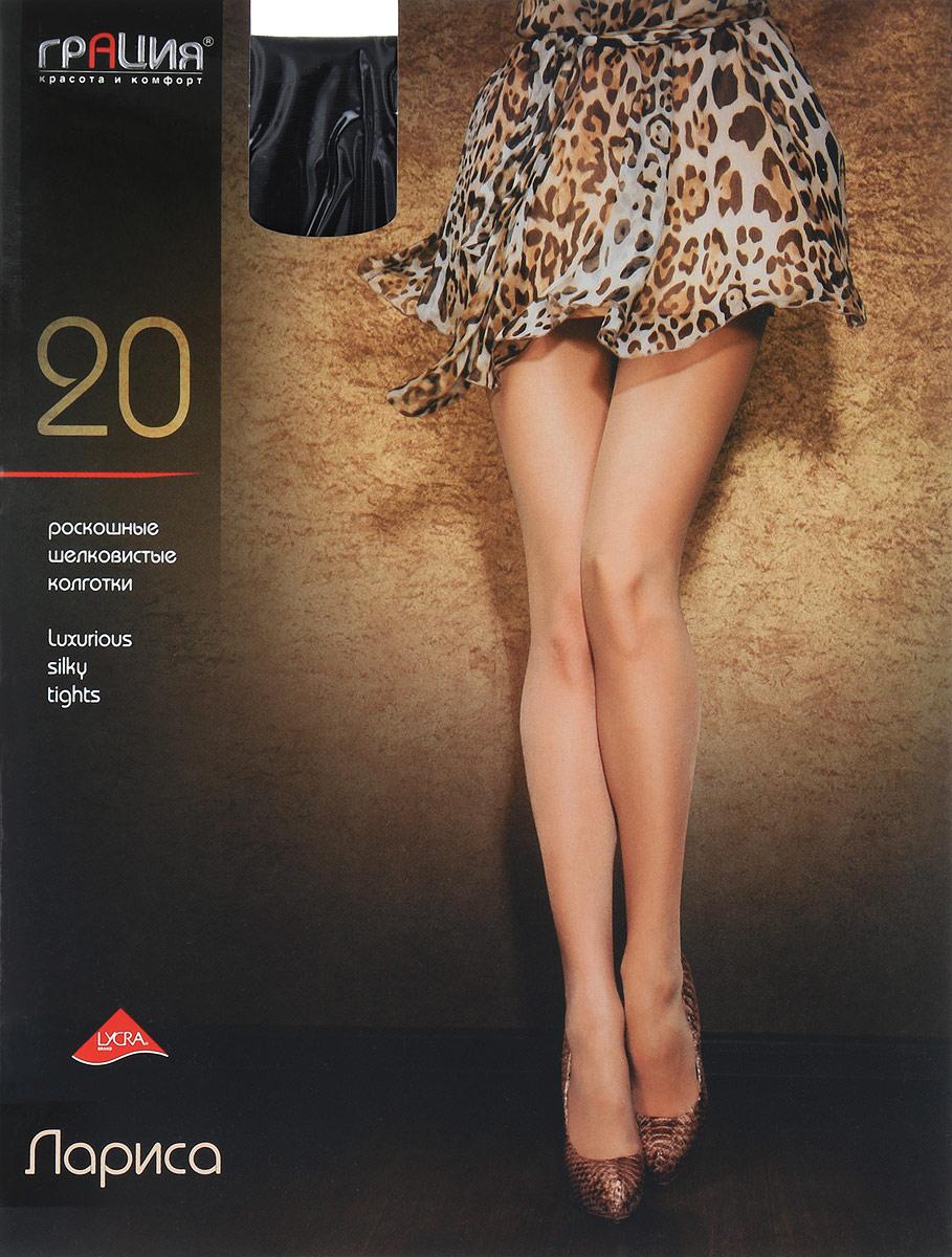 Колготки женские Лариса 20Лариса 20Роскошные шелковистые колготки Грация Лариса 20 - дерзкая модель, создающая эффект обнаженности. Колготки изготовлены из полиамида с добавлением лайкры и хлопка. Модель обладает легким массажным эффектом. Тонкие шелковистые колготки легко тянутся, что делает их комфортными в носке. Гладкие и мягкие на ощупь, они имеют комфортный широкий пояс и укрепленный мысок, которые обеспечат прочность и износостойкость изделия. Хлопковая ластовица и плоские швы создают дополнительный комфорт. Для размеров 5 и 6 предусмотрена специальная вставка. Идеальное облегание и комфорт гарантированы при каждом движении. Плотность: 20 den.