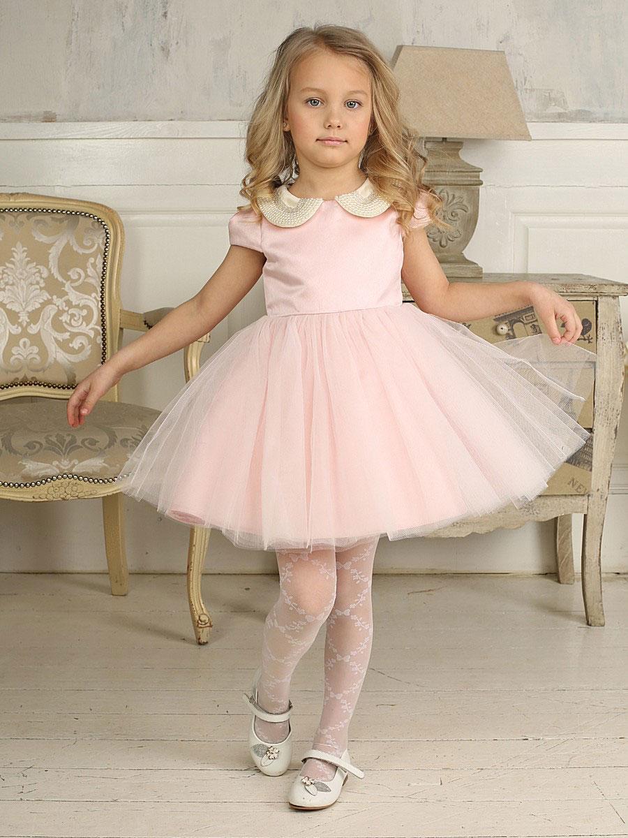 Платье для девочки. 185909185909Красивое платье для девочки Sweet Berry идеально подойдет вашей маленькой принцессе. Изготовленное из полиэстера на подкладке из натурального хлопка, оно мягкое и приятное на ощупь, не сковывает движения и позволяет коже дышать, не раздражает даже самую нежную и чувствительную кожу ребенка, обеспечивая ему наибольший комфорт. Платье с рукавами-крылышками и отложным воротником имеет слегка завышенную линию талии. На спинке модель застегивается на скрытую молнию, что помогает с легкостью переодеть ребенка. Верхняя часть объемной юбки выполнена из мягкой микросетки. От линии талии заложены складочки, придающие изделию пышность. На подъюбнике предусмотрена оборка из микросетки. Воротник модели декорирован крупными бусинами. Очаровательное детское платье послужит отличным дополнением к гардеробу вашей маленькой принцессы. На любом празднике она будет чувствовать себя в таком платье уютно и комфортно, и всегда будет в центре внимания!