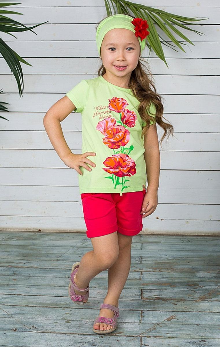 Шорты195513Стильные шорты для девочки Sweet Berry идеально подойдут маленькой моднице и станут отличным дополнением к детскому гардеробу. Шорты, выполненные из натурального хлопка, не сковывают движения и позволяют коже дышать, обеспечивая наибольший комфорт. Шорты на талии застегиваются на металлический крючок и имеют ширинку на застежке-молнии, а также шлевки для ремня. С внутренней стороны пояс регулируется скрытой резинкой на пуговицах. Спереди расположены два втачных кармана и один маленький накладной, а сзади - два накладных кармана.Изделие оформлено декоративными отворотами. Передний накладной кармашек и края отворотов дополнены принтом горох. В таких стильных шортах ваша девочка будет чувствовать себя комфортно и всегда будет в центре внимания!