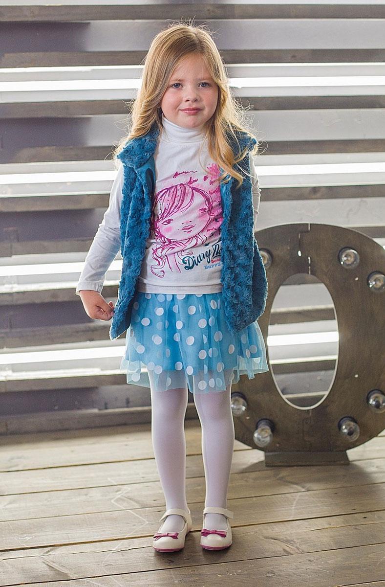 Юбка для девочки. 185415185415Очаровательная воздушная юбка для девочки Sweet Berry идеально подойдет вашей моднице. Изготовленная из высококачественного материала, она необычайно мягкая и приятная на ощупь, не сковывает движения и позволяет коже дышать, не раздражает нежную кожу ребенка, обеспечивая наибольший комфорт. Юбка на талии имеет широкую эластичную резинку, благодаря чему она не сжимает животик ребенка. Модель, на подкладке из эластичного хлопка, дополнена верхним слоем из микросетки с аппликацией в виде крупных горошин, что придает изделию оригинальность. Талия оформлена оборкой. Современный дизайн и расцветка делает эту юбочку модным и стильным предметом детского гардероба. В ней ваша маленькая леди всегда будет в центре внимания!