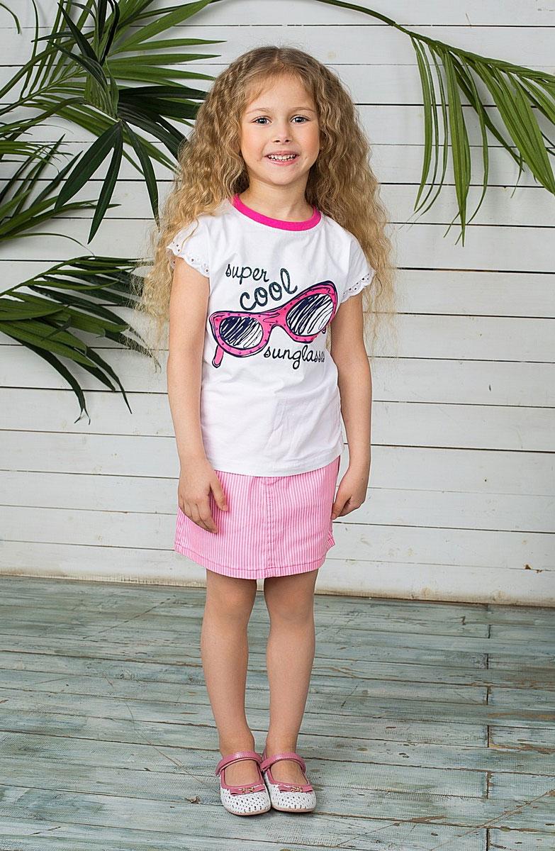 Юбка195407Стильная юбка для девочки Button Blue идеально подойдет вашей маленькой принцессе для отдыха и прогулок. Изготовленная из качественного плотного материала, не сковывает движения малышки и позволяет коже дышать, не раздражает даже самую нежную и чувствительную кожу ребенка, обеспечивая ему наибольший комфорт. Юбка трапециевидного кроя на талии застегивается на металлическую пуговицу, также имеются шлевки для ремня и ширинка на застежке-молнии. С внутренней стороны пояс регулируется резинкой на пуговицах. Модель спереди дополнена двумя втачными кармашками и накладным секретным кармашком, а сзади - двумя накладными карманами. Оформлена модель принтом в мелкую полоску и оригинальными клепками со стразами. Современный дизайн и модная расцветка делают эту юбку модным и стильным предметом детского гардероба. В ней ваша малышка всегда будет в центре внимания!