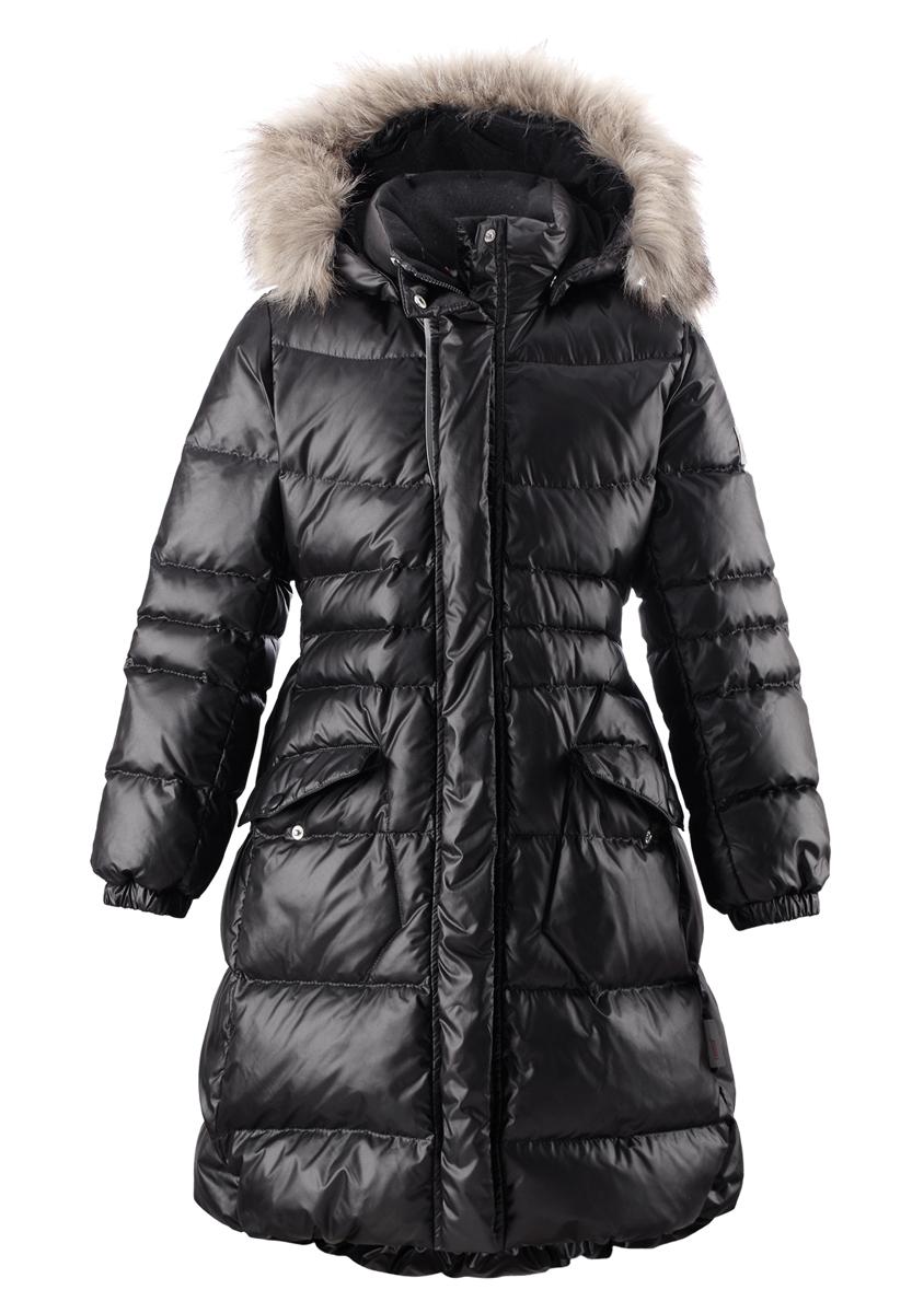 Пальто детское Satu. 531237531237-4900Модное пальто Reima Satu станет отличным дополнением к гардеробу вашей дочурки. Пальто изготовлено из ветрозащитной дышащей ткани - 100% полиэстера. Модель обладает высокой степенью утепления, так как в качестве утеплителя используется пух с добавлением пера. Пальто с воротником-стойкой и съемным капюшоном застегивается на застежку-молнию и дополнено ветрозащитным клапаном с застежками-кнопками. Капюшон, украшенный съемным искусственным мехом, пристегивается к пальто с помощью кнопок. Мягкая подкладка на капюшоне и воротнике обеспечивает комфорт. Изделие дополнено спереди двумя прорезными карманами с клапанами на кнопках. Манжеты рукавов дополнены эластичными резинками. Нижняя часть модели с внутренней стороны присборена на эластичные резинки. На спинке по талии модель дополнена вшитой резинкой. Светоотражающие элементы увеличивают безопасность вашего ребенка с темное время суток. Такая стильное пальто станет прекрасным дополнением гардеробу вашей девочки, оно подарит комфорт...