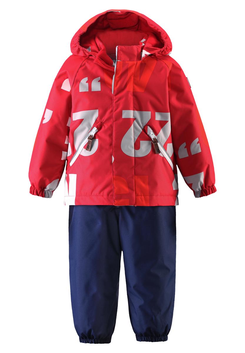 513099-3831Яркие цвета сезона и весёлый принт обязательно оживят морозное утро, если малыш оденет этот водоотталкивающий зимний комплект! Зимняя куртка и брюки для малышей сшиты из ветронепроницаемого, пропускающего воздух материала, поверхность которого отталкивает грязь и влагу. Все швы проклеены, водонепроницаемы, чтобы случайный снег или дождик не прервал весёлую прогулку. Куртка с подкладкой из гладкого полиэстера легко надевается и удобно носится с тёплым промежуточным слоем. Куртка прямого покроя с безопасным съёмным капюшоном. Если закреплённый кнопками капюшон зацепится за что-нибудь, он легко отстегнётся. В карманы на молнии можно положить маленькие сокровища, а язычки молнии из искусственной кожи делают модный образ ещё интереснее! Завышенная талия и регулируемые подтяжки гарантируют, что брюки будут сидеть по фигуре, а длинная молния впереди облегчает одевание. Благодаря дополнительно утеплённой задней части брюк малыши не замёрзнут, катаясь на санках и скользя в снегу. Эластичные...