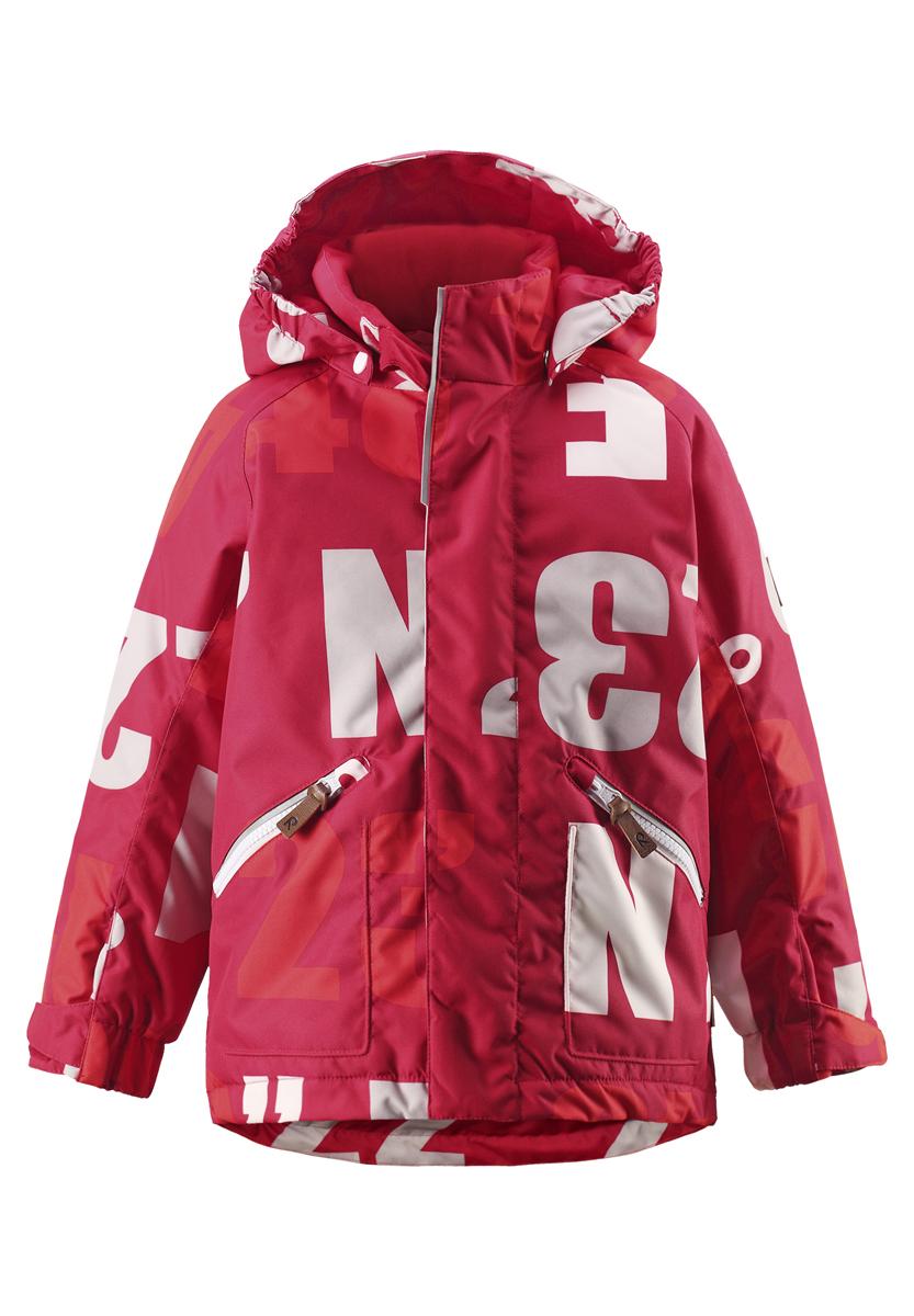 Куртка521461-3831Яркие цвета сезона и веселый принт обязательно оживят морозное утро, если ребенок оденет эту водоотталкивающую куртку! Детская куртка сшита из ветронепроницаемого, пропускающего воздух материала, который отталкивает грязь и влагу. Все швы проклеены, водонепроницаемы, чтобы случайный снег или дождик не прервал веселую прогулку. Куртка с подкладкой из гладкого полиэстера легко надевается и удобно носится с теплым промежуточным слоем. Куртка прямого покроя с безопасным съемным капюшоном. Если закрепленный кнопками капюшон зацепится за что-нибудь, он легко отстегнется. В карманы на молнии можно положить маленькие сокровища, а язычки молнии из искусственной кожи делают модный образ еще интереснее! Водонепроницаемость: Waterpillar over 10 000 mm.