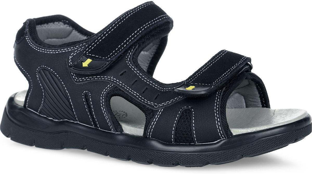 Сандалии для мальчика. 61-DS11561-DS115Стильные сандалии от Flamingo придутся по душе вашему ребенку! Модель, выполненная из искусственной кожи, дополнена текстильной окантовкой по краям. Обувь оформлена контрастной прострочкой, текстильными вставками и нашивками из ПВХ. Ремешки на застежках-липучках отвечают за надежную фиксацию модели на ноге. Подкладка из искусственной кожи и стелька из натуральной кожи гарантируют комфорт и уют при движении. Подошва с рифлением обеспечивает идеальное сцепление с любыми поверхностями. Удобные сандалии - необходимая вещь в гардеробе каждого ребенка.