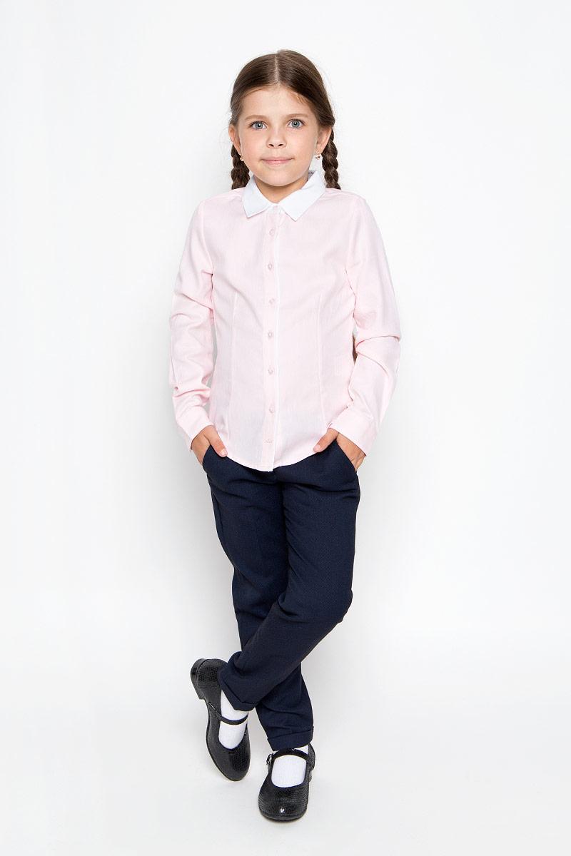 РубашкаB-612/013-6311Стильная приталенная рубашка для девочки Sela идеально подойдет вашей дочурке. Изготовленная из натурального высококачественного хлопка, она мягкая и приятная на ощупь, не сковывает движения и позволяет коже дышать, обеспечивая наибольший комфорт. Рубашка с длинными рукавами и отложным воротничком застегивается на пластиковые пуговицы по всей длине, рукава также дополнены манжетами на пуговицах. Изделие оформлено принтом в микрополоску. Современный дизайн и расцветка делают эту рубашку стильным предметом детского гардероба. Модель можно носить как с джинсами, так и с классическими брюками.