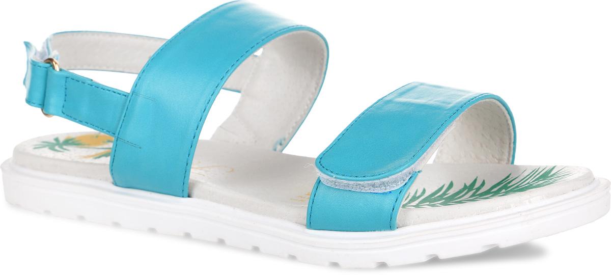 Сандалии для девочки. 61-ES10261-ES102Чудесные сандалии от Flamingo придутся по душе вашей девочке. Модель выполнена из искусственной кожи. Внутренняя часть и стелька изготовлены из натуральной кожи. Ремешки с застежками-липучками прочно закрепят модель на ножке. Подошва оснащена рифлением для лучшего сцепления с различными поверхностями. Практичные и стильные сандалии займут достойное место в гардеробе вашей малышки.