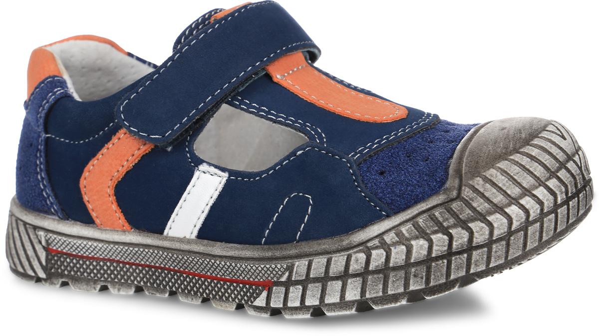 Сандалии для мальчика. 161210161210Модные сандалии от PlayToday придутся по душе вашему мальчику. Модель, выполненная из искусственной кожи, оформлена контрастной прострочкой, на мысе и на заднике - декоративной перфорацией. Ремешок с застежкой-липучкой обеспечивает надежную фиксацию модели на ноге. Внутренняя поверхность из натуральной кожи не натирает. Стелька из материала ЭВА с поверхностью из натуральной кожи дополнена супинатором с перфорацией, который обеспечивает правильное положение стопы ребенка при ходьбе и предотвращает плоскостопие. Подошва с наплывом на носочную часть продлит срок службы изделия. Рифление на подошве гарантирует отличное сцепление с любой поверхностью. Стильные сандалии - незаменимая вещь в гардеробе каждого мальчика!