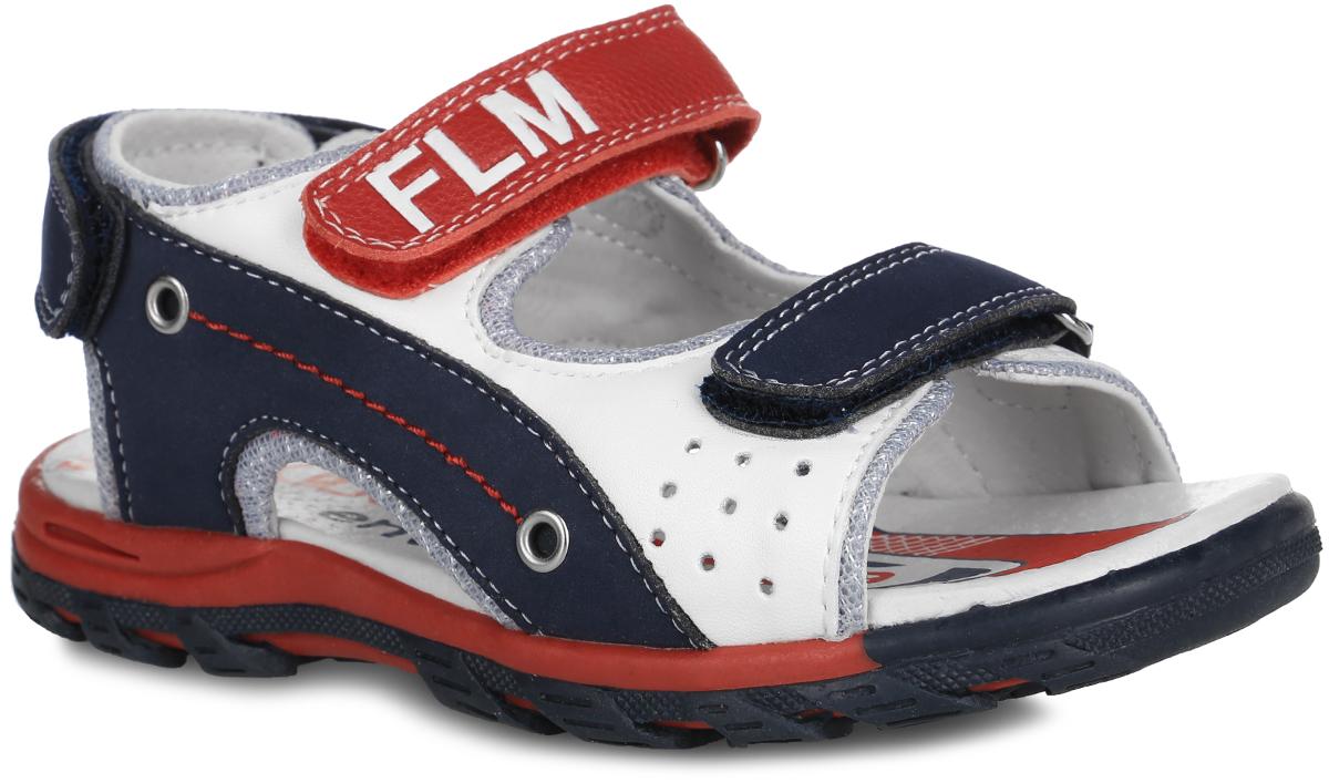 Сандалии для мальчика. 61-XS1661-XS168Стильные сандалии от Flamingo придутся по душе вашему мальчику! Модель выполнена из комбинации искусственной кожи, натуральной кожи и текстиля. Обувь оформлена декоративной прострочкой и перфорацией в мысочной части, люверсами по бокам, на ремешке - логотипом бренда. Ремешки с застежками-липучками отвечают за надежную фиксацию модели на ноге. Мягкая стелька из ЭВА материала с поверхностью из натуральной кожи дополнена супинатором с перфорацией, который гарантирует правильное положение ноги ребенка при ходьбе и предотвращает плоскостопие. Удобная эластичная подошва хорошо гнется. Рифление на подошве обеспечивает сцепление с любой поверхностью. Удобные сандалии - необходимая вещь в гардеробе каждого ребенка.