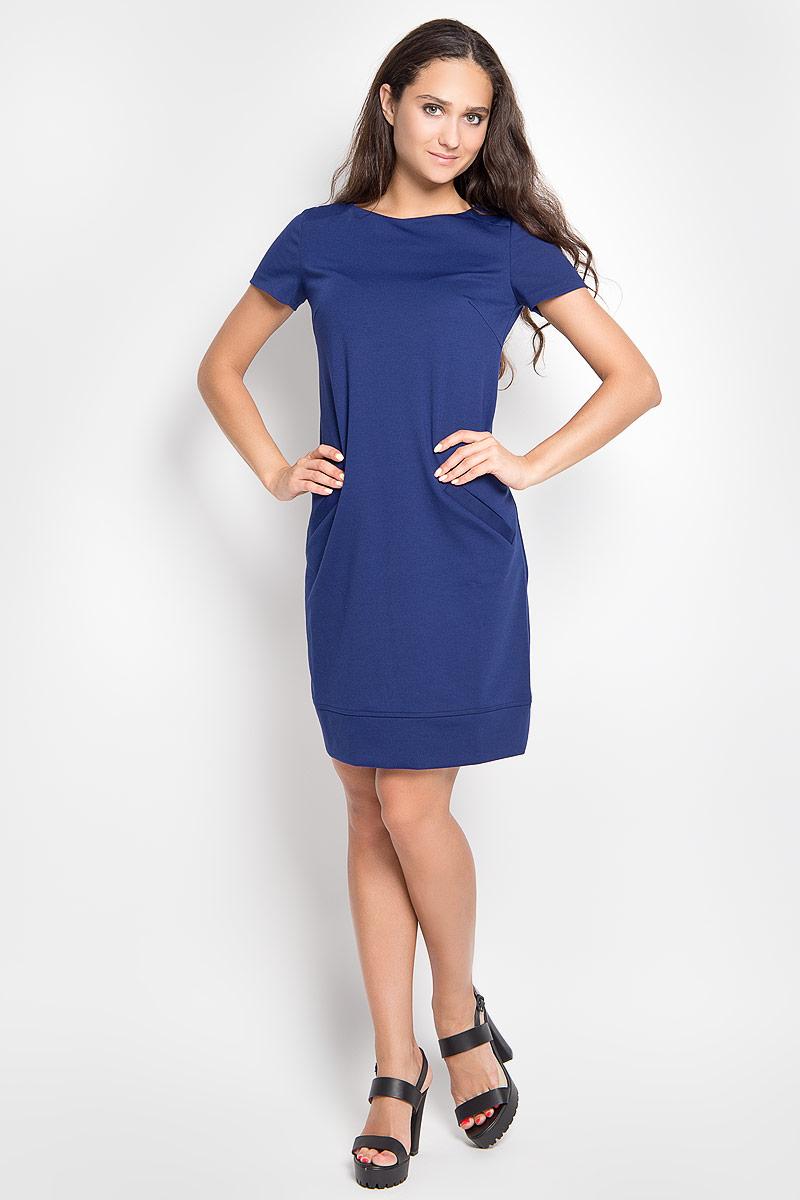 Платье Марелла. 06-297-20406-297-204Платье Affari Марелла, выполненное из высококачественного комбинированного материала, поможет создать отличный современный образ в стиле Casual. Модель с круглым вырезом горловины и короткими рукавами. Платье-миди спереди дополнено двумя прорезными карманами. Такое платье поможет создать яркий и привлекательный образ, в нем вам будет удобно и комфортно.