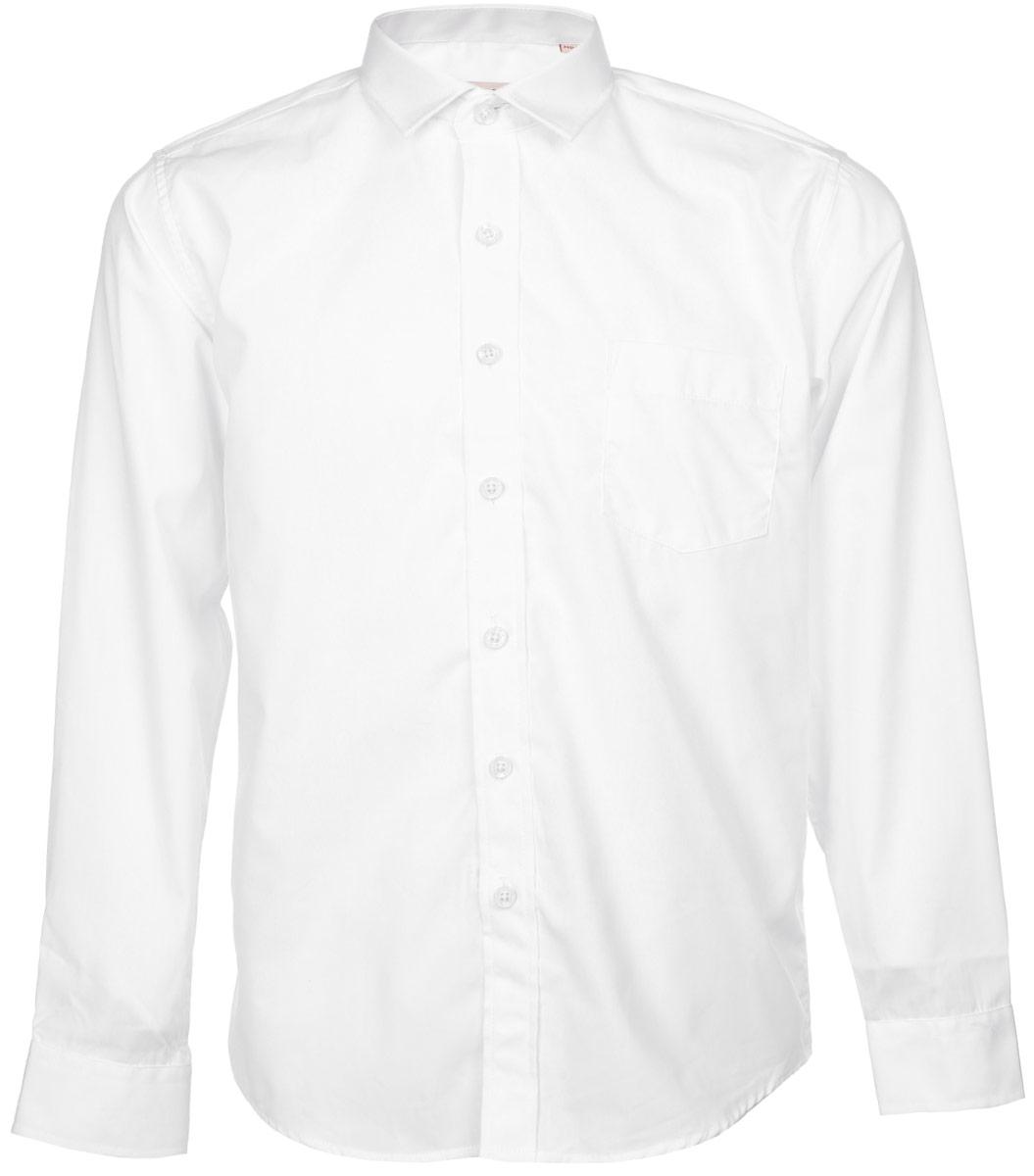 РубашкаPT2000Стильная рубашка для мальчика Imperator идеально подойдет для школы. Изготовленная из хлопка с добавлением полиэстера, она необычайно мягкая, легкая и приятная на ощупь, не сковывает движения малыша и позволяет коже дышать, не раздражает даже самую нежную и чувствительную кожу ребенка, обеспечивая ему наибольший комфорт. Рубашка классического кроя с длинными рукавами и отложным воротничком застегивается на пуговицы. Рукава имеют широкие манжеты, также застегивающиеся на пуговицы. На груди расположен накладной открытый карман. Такая рубашка - незаменимая вещь для школьной формы, отлично сочетается с брюками, жилетами и пиджаками.