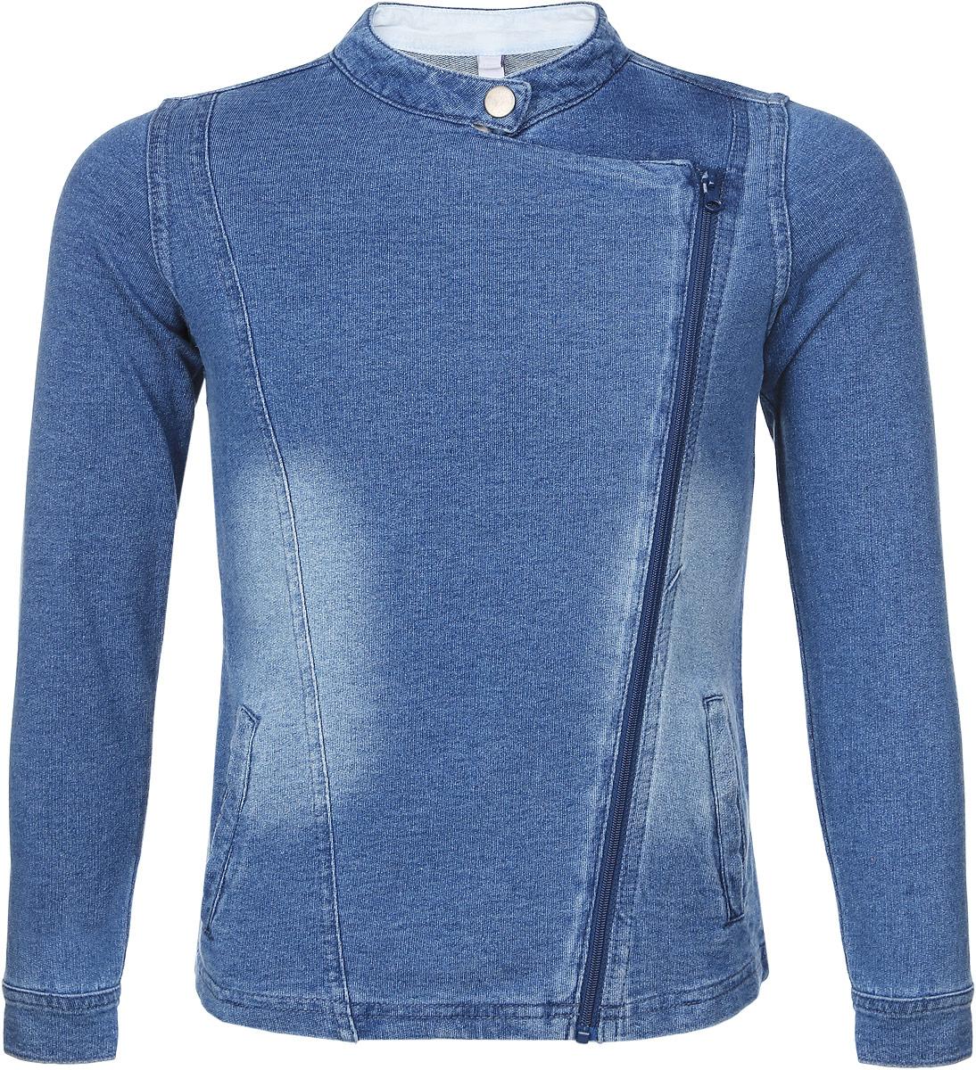 Куртка162151Стильная куртка для девочки PlayToday, выполненная из натурального хлопка, она необычайно мягкая и приятная на ощупь, не сковывает движения ребенка и позволяет коже дышать, не раздражает даже самую нежную и чувствительную кожу, обеспечивая ему наибольший комфорт. Куртка с запахом, длинными рукавами и воротником-стойкой застегивается на застежку-молнию и сверху на кнопку. Спереди она дополнена двумя прорезными кармашками. Манжеты рукавов регулируются по ширине за счет кнопок. Оригинальный современный дизайн и модная расцветка делают эту куртку модным и стильным предметом детского гардероба. В ней ваша малышка будет чувствовать себя уютно и комфортно, и всегда будет в центре внимания!