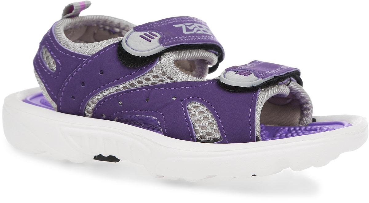 10287-22Прелестные сандалии от Зебра придутся по душе вашей девочке. Модель, выполненная из искусственной кожи и текстиля, оформлена на ремешках декоративными нашивками из ПВХ, сбоку - перфорацией, на верхнем ремешке - названием бренда. Ремешки с застежками-липучками обеспечивают надежную фиксацию модели на ноге. Внутренняя поверхность из текстиля не натирает. Стелька из материала ЭВА с рельефной поверхностью комфортна при движении. Подошва с рифлением гарантирует отличное сцепление с любой поверхностью. Стильные сандалии - незаменимая вещь в гардеробе каждой девочки!