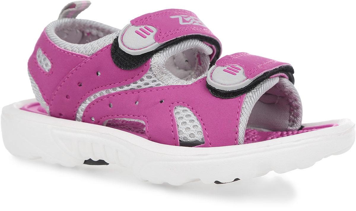 Сандалии для девочки. 102810287-22Прелестные сандалии от Зебра придутся по душе вашей девочке. Модель, выполненная из искусственной кожи и текстиля, оформлена на ремешках декоративными нашивками из ПВХ, сбоку - перфорацией, на верхнем ремешке - названием бренда. Ремешки с застежками-липучками обеспечивают надежную фиксацию модели на ноге. Внутренняя поверхность из текстиля не натирает. Стелька из материала ЭВА с рельефной поверхностью комфортна при движении. Подошва с рифлением гарантирует отличное сцепление с любой поверхностью. Стильные сандалии - незаменимая вещь в гардеробе каждой девочки!