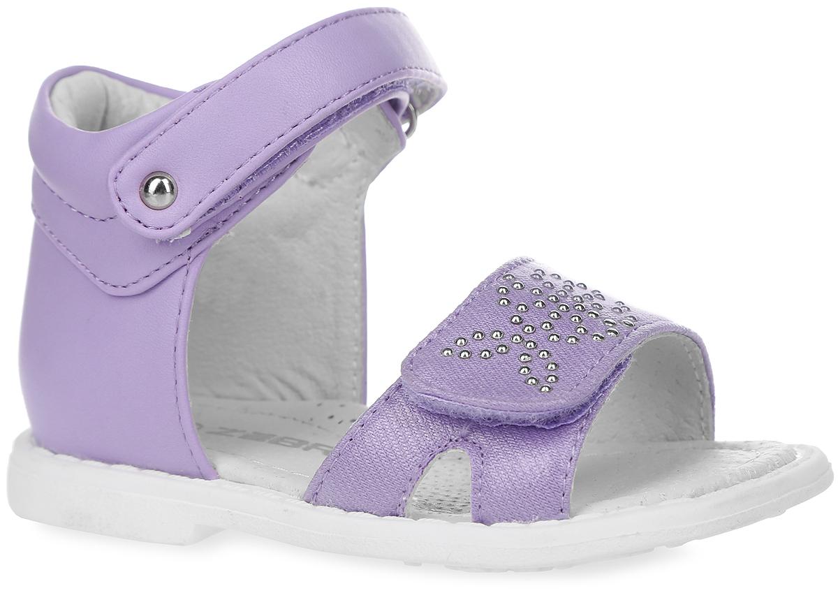 Сандалии для девочки. 10383-2010383-20Прелестные сандалии от Зебра придутся по душе вашей дочурке и идеально подойдут для повседневной носки в летнюю погоду! Модель, выполненная из искусственной кожи, оформлена аппликацией из стразов. Ремешки с застежками-липучками обеспечивают надежную фиксацию модели на ноге. Внутренняя поверхность и стелька из натуральной кожи комфортны при ходьбе. Стелька оснащена супинатором с перфорацией, который обеспечивает правильное положение стопы ребенка при ходьбе и предотвращает плоскостопие. Подошва с рифлением гарантирует отличное сцепление с любой поверхностью. Стильные сандалии - незаменимая вещь в гардеробе каждой модницы!