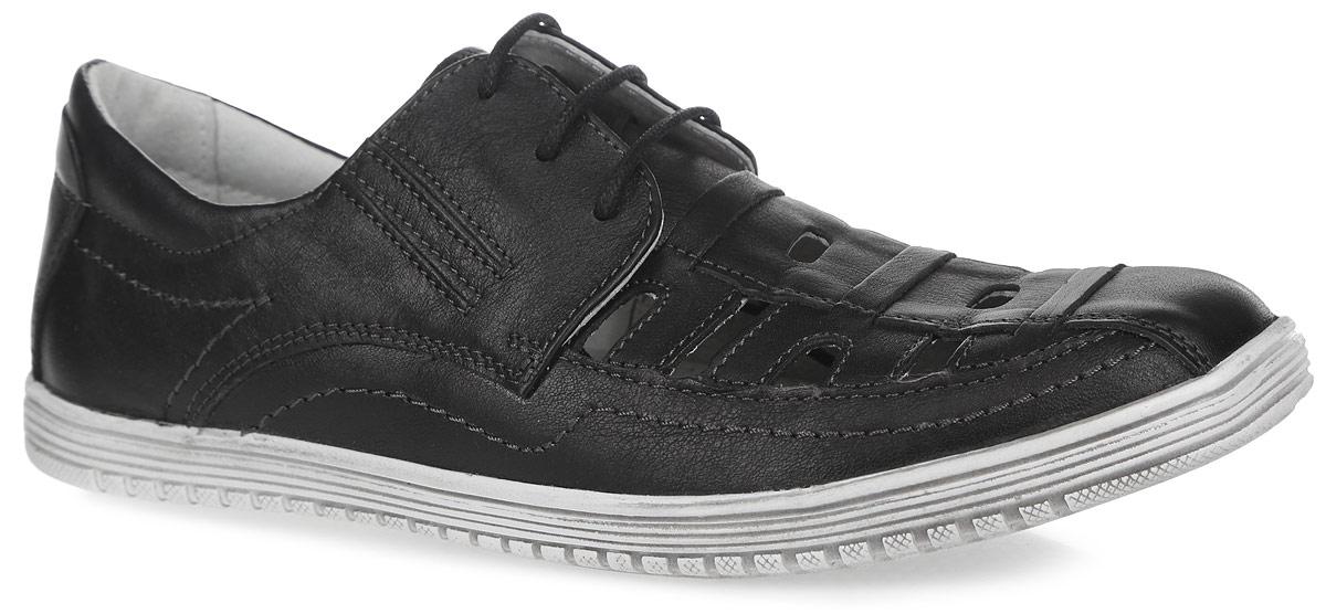 10238-1Стильные полуботинки от Зебра займут достойное место среди коллекции обуви вашего мальчика. Модель выполнена из натуральной кожи и оформлена перфорацией на мыске. Подъем оформлен шнуровкой, которая надежно зафиксирует обувь на ноге. Кожаная подкладка и стелька из ЭВА материала с верхним покрытием из кожи, гарантируют комфорт и предотвращают натирание. Стелька дополнена супинатором, который обеспечивает правильное формирование детской стопы. Подошва с рифлением гарантирует отличное сцепление с любой поверхностью. Трендовые полуботинки придутся по душе вашему мальчику.