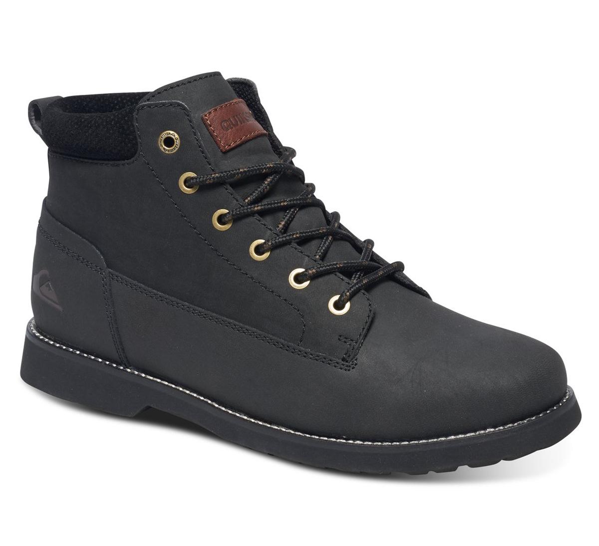 БотинкиAQYB700022-SBKMМужские ботинки Mission II от Quiksilver выполнены из натуральной кожи. Классическая шнуровка надежно зафиксирует модель на ноге. Удобные люверсы в стиле бордшортов позволяют быстро снимать и надевать ботинки. Многослойная стелька с функцией поддержки подъема стопы обеспечивает комфорт при движении.