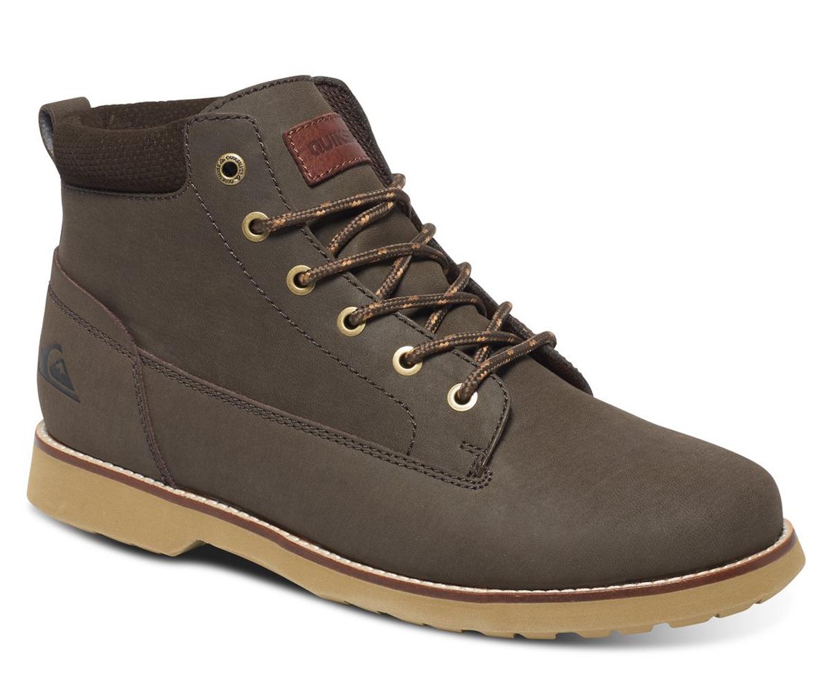 БотинкиAQYB700022-XCCCМужские ботинки Mission II от Quiksilver выполнены из натуральной кожи. Подкладка выполнена из теплой и уютной шерпы. Классическая шнуровка надежно зафиксирует модель на ноге. Удобные люверсы в стиле бордшортов позволяют быстро снимать и надевать ботинки. Многослойная стелька с функцией поддержки подъема стопы обеспечивает комфорт при движении.