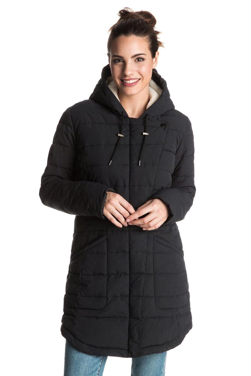 ERJJK03148-CQW0Женская куртка с большим капюшоном выполнена из высококачественного материала. Подкладка из шерпы (включая капюшон). Застегивается асимметрично. Водоотталкивающий материал. Полусвободный крой. Рекомендуемый температурный режим до -15 радиусов.