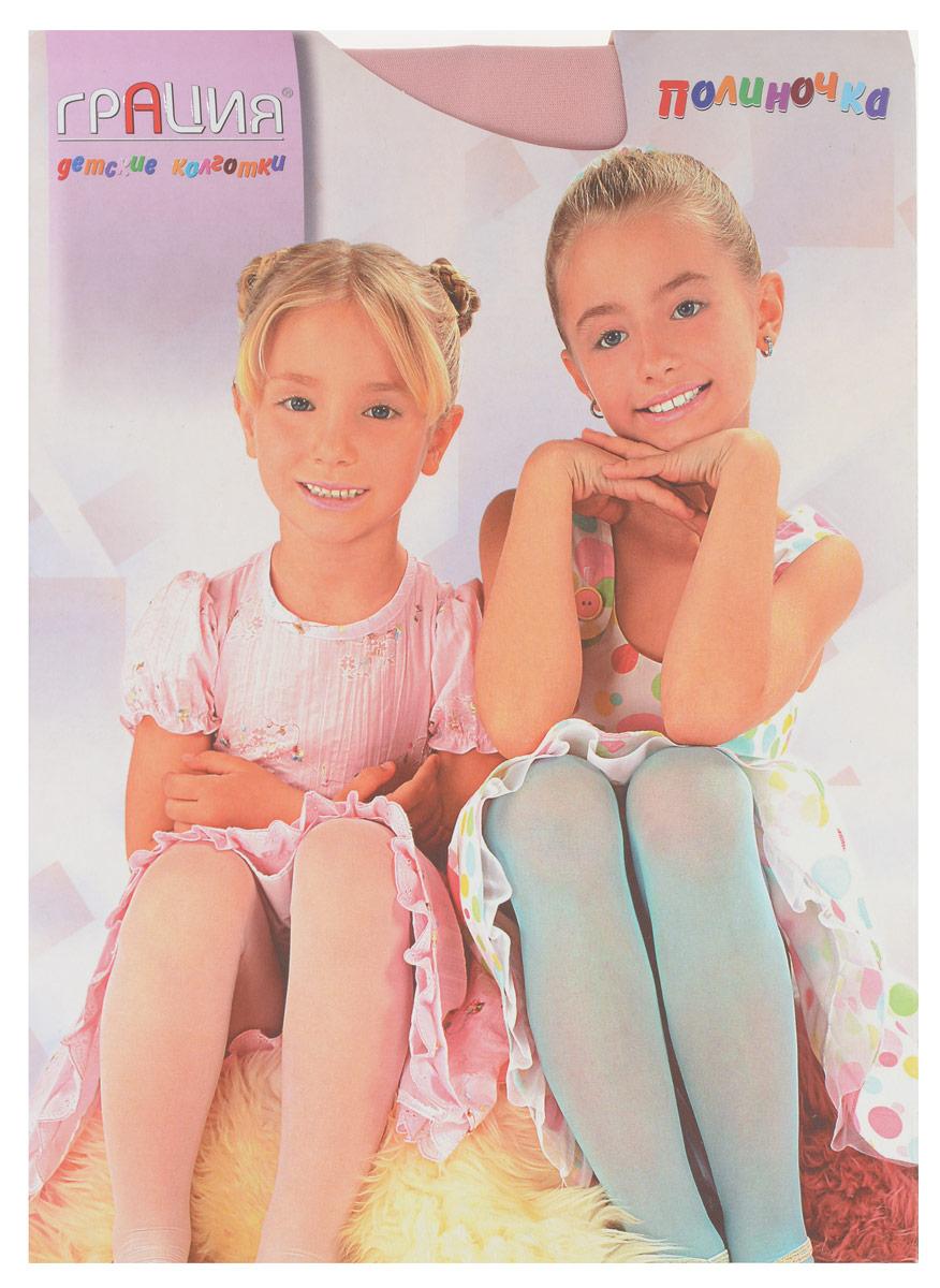 Колготки для девочки ПолиночкаПолиночкаКлассические детские колготки Грация Полиночка изготовлены специально для девочек. Однотонные колготки имеют широкую резинку, укрепленный верх и комфортные плоские швы. Элегантные и комфортные, эти колготки равномерно облегают ножки, не сдавливая и не доставляя дискомфорта. Эластичные швы и мягкая резинка на поясе не позволят колготам сползать и не будут стеснять движений. Входящие в состав ткани полиамид и лайкра предотвращают растяжение и деформацию после стирки. Классические колготки - это идеальное решение на каждый день для прогулки, школы, яслей или садика. Такие колготки станут великолепным дополнением к гардеробу вашей красавицы.