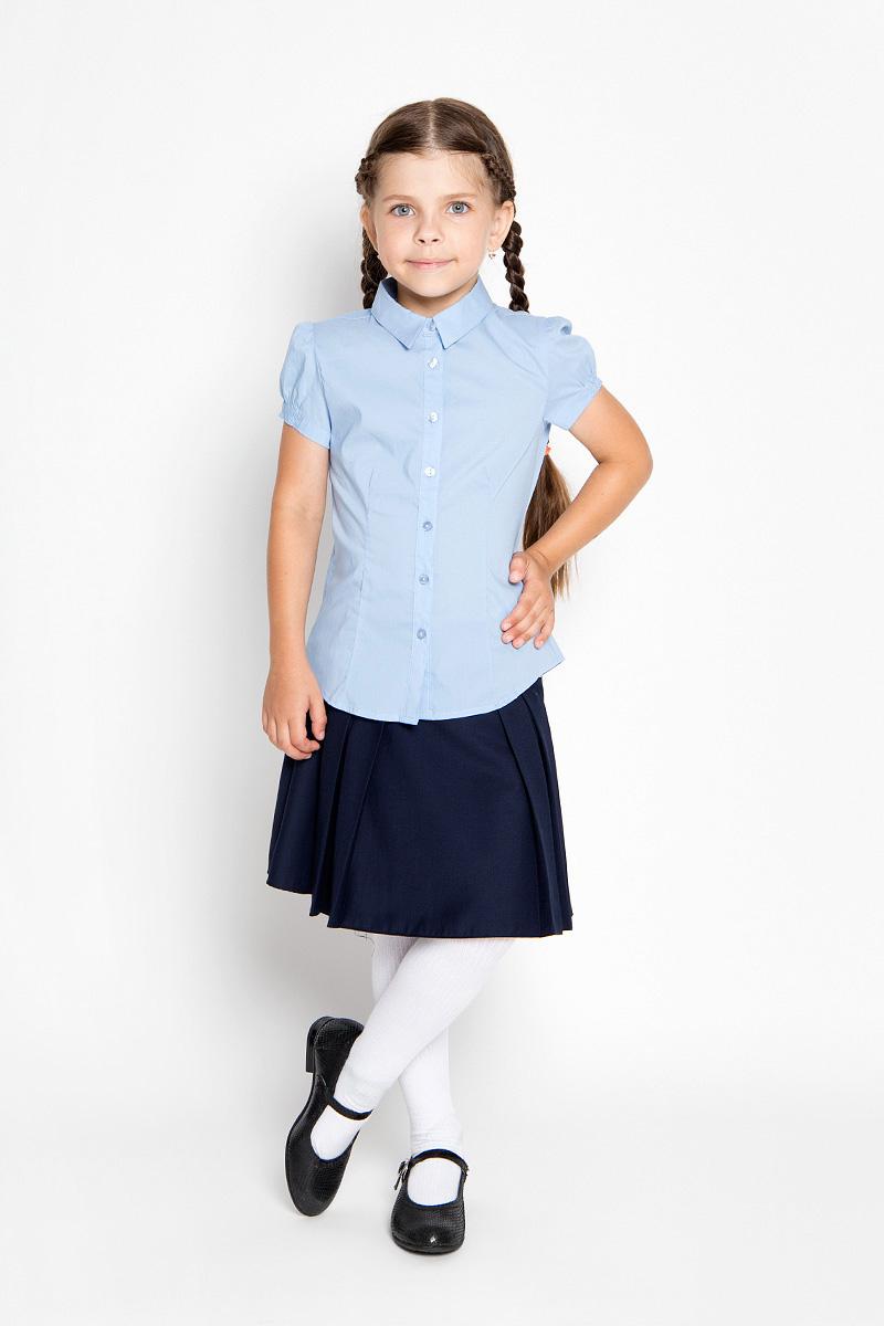 БлузкаBs-612/842-6311Стильная блузка для девочки Sela идеально подойдет вашей дочурке. Изготовленная из эластичного хлопка с добавлением нейлона, она мягкая и приятная на ощупь, не сковывает движения и позволяет коже дышать, обеспечивая наибольший комфорт. Блузка с короткими рукавами-фонариками и отложным воротничком застегивается на пластиковые пуговицы по всей длине. Рукава дополнены эластичными резинками. Современный дизайн и расцветка делают эту блузку стильным предметом детского гардероба. Модель можно носить как с джинсами, так и с классическими брюками.