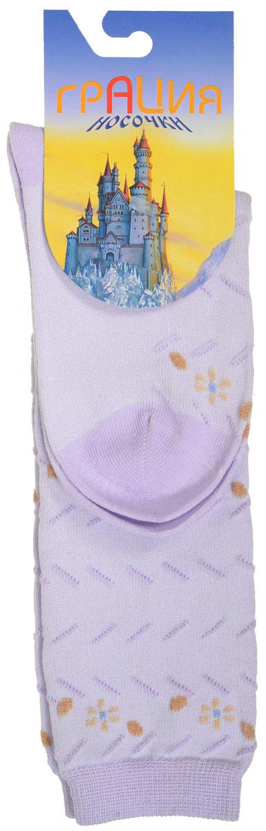 Д 2202Гольфы для девочки Грация выполнены из мягкого эластичного материала. Изделие приятное на ощупь, хорошо пропускает воздух. Эластичная резинка мягко облегает ножку ребенка, создавая удобство и комфорт. Усиленные пятка и мысок обеспечивают надежность и долговечность. Гольфы оформлены рельефными вязаными полосками и цветочками контрастного цвета. Гольфы станут отличным дополнением к гардеробу маленькой модницы! Уважаемые клиенты! Размер, доступный для заказа, является длиной стопы.