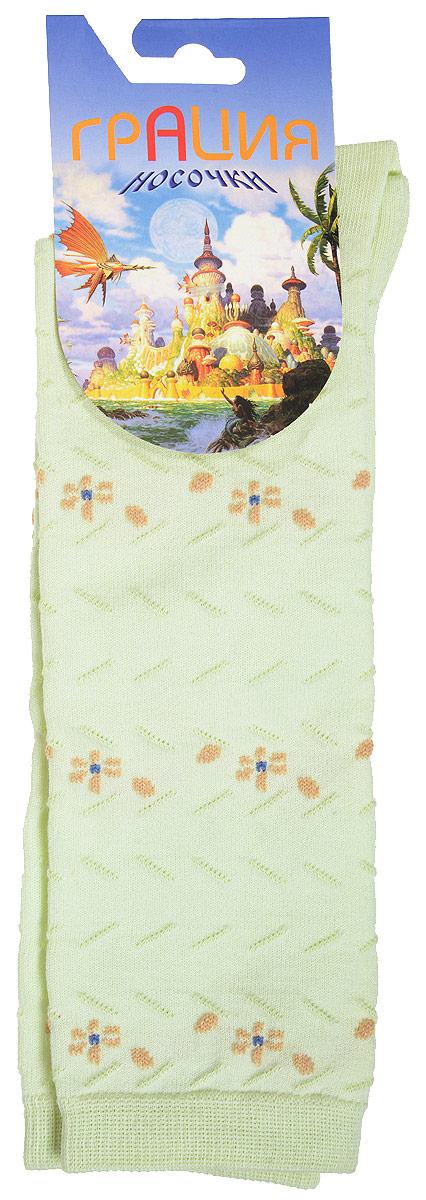 ГольфыД 2202Гольфы для девочки Грация выполнены из мягкого эластичного материала. Изделие приятное на ощупь, хорошо пропускает воздух. Эластичная резинка мягко облегает ножку ребенка, создавая удобство и комфорт. Усиленные пятка и мысок обеспечивают надежность и долговечность. Гольфы оформлены рельефными вязаными полосками и цветочками контрастного цвета. Гольфы станут отличным дополнением к гардеробу маленькой модницы! Уважаемые клиенты! Размер, доступный для заказа, является длиной стопы.