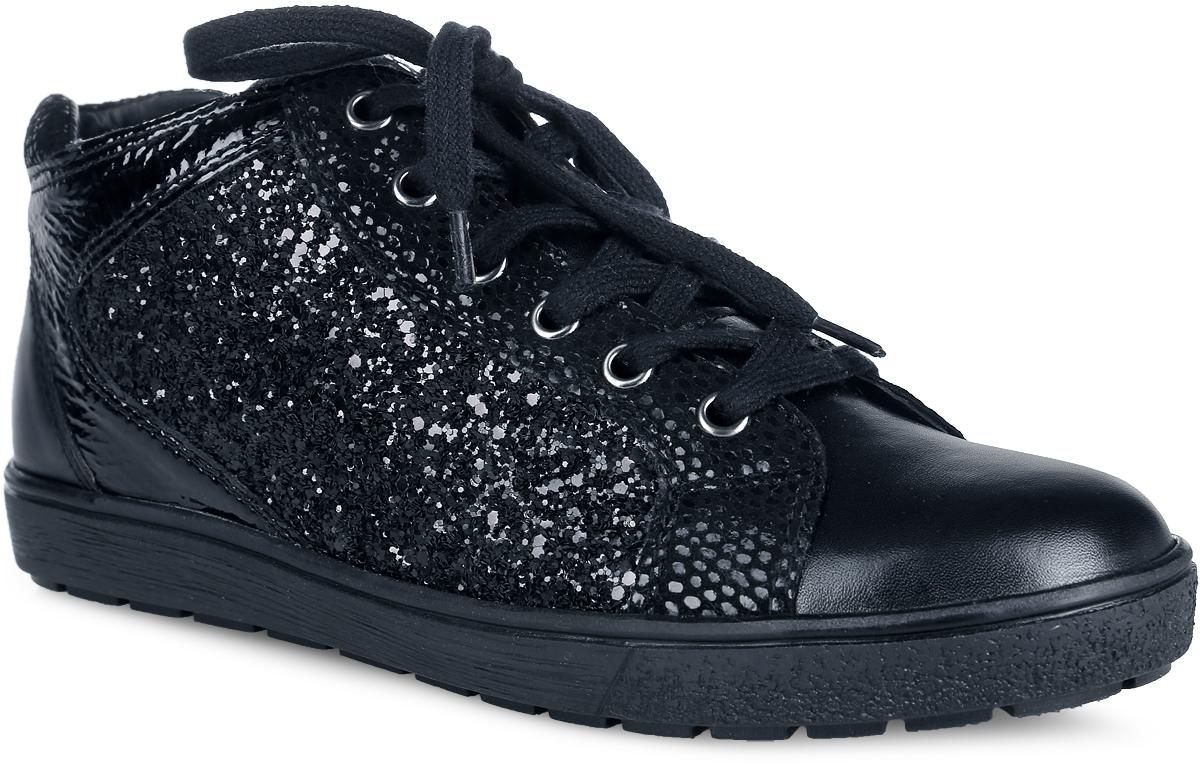 9-9-25254-27-019Стильные женские ботинки от Сарriсе не оставят равнодушной настоящую модницу! Верх модели, выполненный из натуральной и искусственной кожи, оформлен по бокам пайетками. Шнуровка надежно зафиксирует модель на ноге. Подкладка и стелька из мягкого текстиля не дадут ногам замерзнуть. Подошва с рельефной поверхностью обеспечивает отличное сцепление с любой поверхностью. Такие ботинки отлично подчеркнут ваш стиль и индивидуальность.