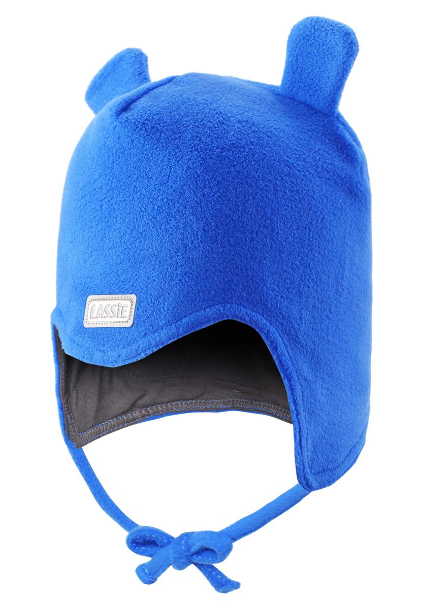 Шапка детская718690-5120Очень важно, чтобы ушки были хорошо защищены во время игр на свежем воздухе. Эта теплая шапка для малышей идеальна для холодных зимних деньков! Благодаря быстросохнущему флису и мягкой подкладке из джерси, шапка очень удобная и приятная на ощупь, а ветронепроницаемые вставки в области ушей обеспечивают дополнительную защиту. Светоотражающая эмблема Lassie спереди.