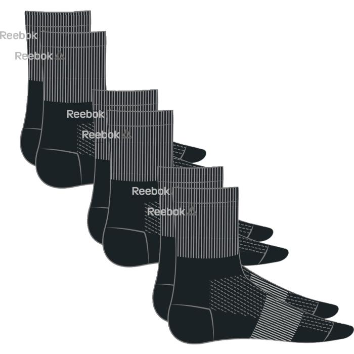 Носки (3 пары в уп) Se U Mid Crew Sock. AJ6246AJ6246Носки (3 пары) Отлично сидят на ноге и эффективно отводят лишнюю влагу. Идеальный вариант как для тренировки, так и для повседневной носки. Дополнительная поддержка свода стопы гарантирует надежную посадку по ноге. Три пары в упаковке. Средняя высота для комфорта и надежной поддержке Отлично сидят на ноге благодаря манжетам в рубчик и дополнительной поддержке свода стопы Сетчатые вставки обеспечивают вентиляцию Жаккардовый логотип Reebok контрастной расцветки