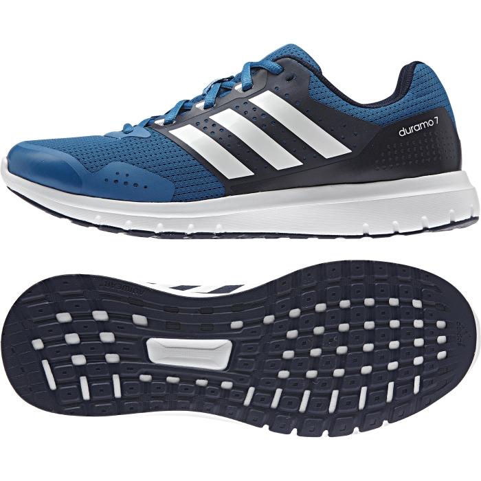 Кроссовки мужские для бега Duramo 7 m. AQ649AQ6494Модные мужские кроссовки Duramo 7 m от adidas Performance придутся вам по душе. Верх, выполненный из сетчатого дышащего текстиля, дополнен бесшовными накладками из ПВХ. Одна из боковых сторон и язычок оформлены названием и логотипом бренда, другая сторона - названием модели. Подкладка из текстиля не натирает. Стелька Ortholite из материала ЭВА с текстильной поверхностью комфортна при движении. Классическая шнуровка с прорезиненной панелью надежно фиксирует модель на ноге. Легкая промежуточная подошва из материала ЭВА обладает высокой износостойкостью и обеспечивает идеальную амортизацию. Резиновая подошва с протектором гарантирует идеальное сцепление с любыми поверхностями. Такие кроссовки - отличный вариант для бега на короткие и длинные дистанции.