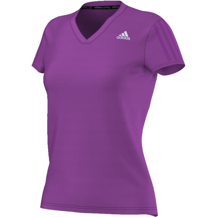 Футболка для бега жен Rs ss tee w. AX6580AX6580Каждая тренировка приближает вас к личному рекорду. Эта футболка с V-образным вырезом с коротким рукавом для женщин. Технология ClimaLite® гарантирует быстрое по тоотведение.