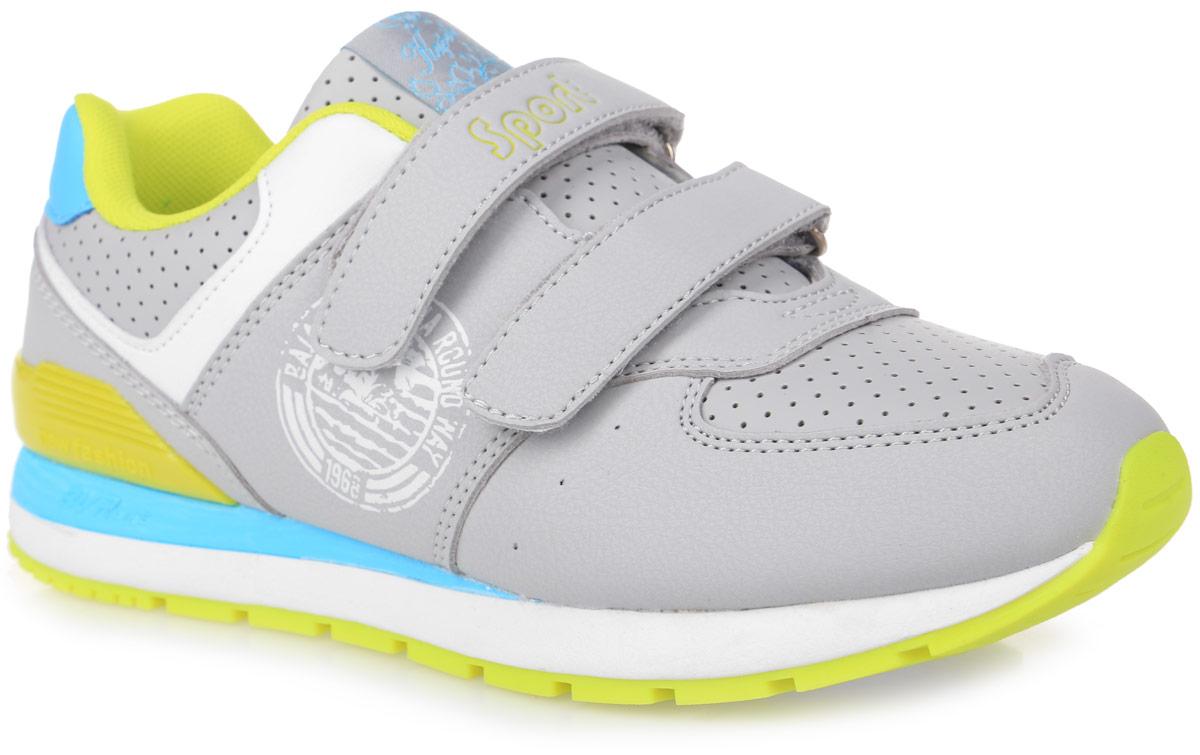 74176-4Модные кроссовки от Kapika очаруют вашего ребенка с первого взгляда. Модель, выполненная из искусственной кожи, оформлена перфорацией, на язычке - фирменной текстильной нашивкой, сбоку - оригинальным принтом, на ремешке - надписью Sport. Ремешки с застежками-липучками обеспечат надежную фиксацию модели на ноге. Внутренняя поверхность из текстиля предотвращает натирание. Стелька из ЭВА материала с текстильной поверхностью гарантирует комфорт при движении и обеспечивает воздухопроницаемость. Анатомическая стелька дополнена супинатором, который обеспечивает правильное положение стопы ребенка при ходьбе и предотвращает плоскостопие. Подошва с рифлением гарантирует идеальное сцепление с любой поверхностью. Стильные кроссовки - незаменимая вещь в гардеробе каждого ребенка!